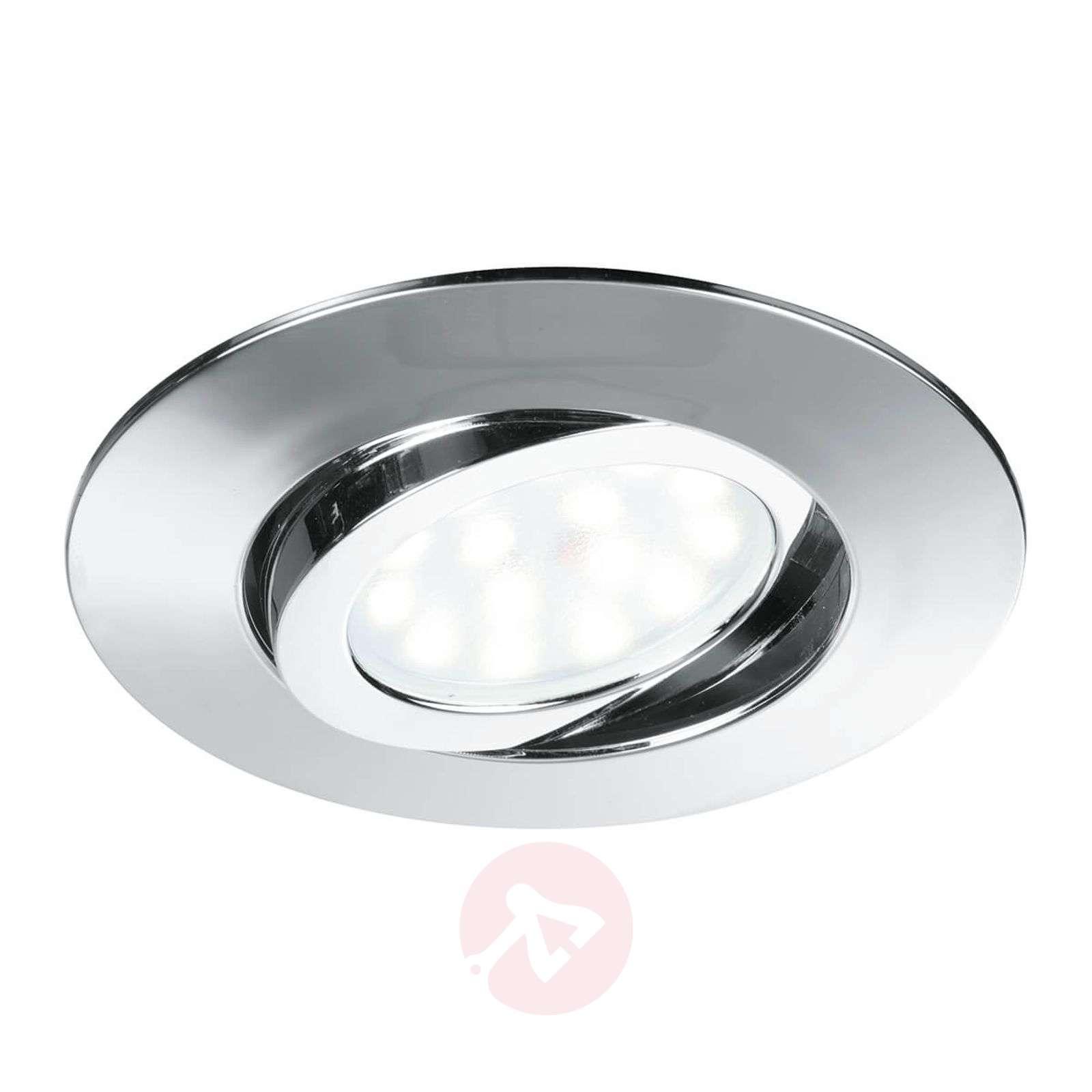 Pivotable LED recessed ceiling spotl. Zenit chrome-3006558-01