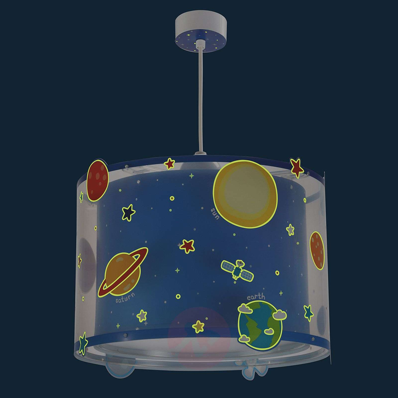 Planets childrens pendant light with motif-2507369-01