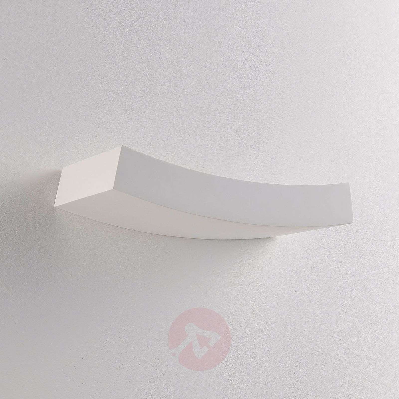 Plaster LED wall uplighter Tiara, G9 bulb dimmable-9621318-011