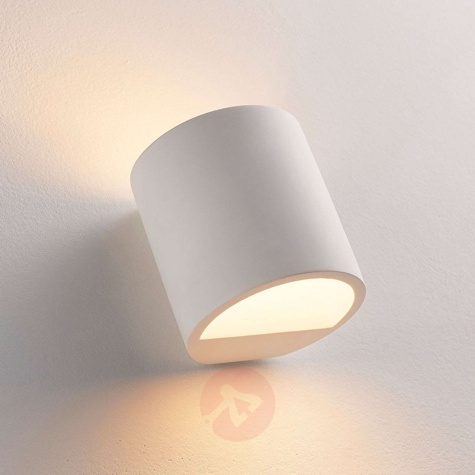 Plaster wall light Krista with G9 LED bulb-9621346-02