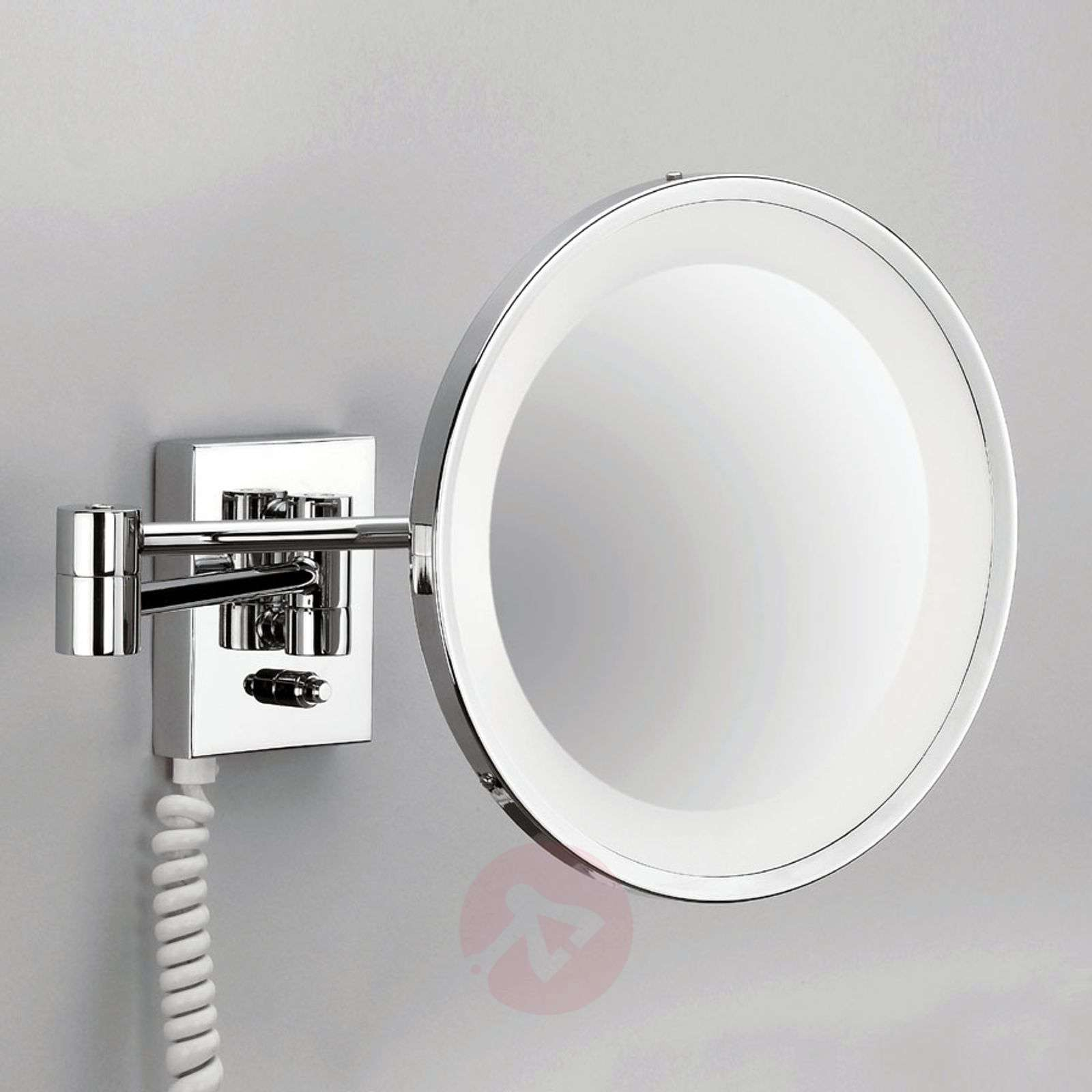 POINT illuminated cosmetic wall mirror, chrome-2504194-01