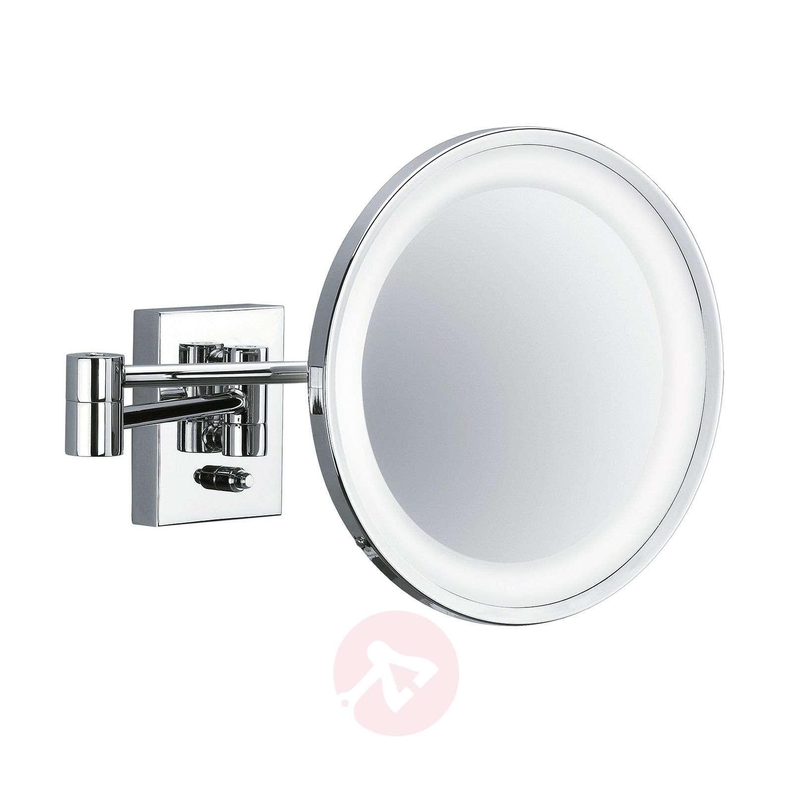 POINT illuminated cosmetic wall mirror, chrome-2504194-01