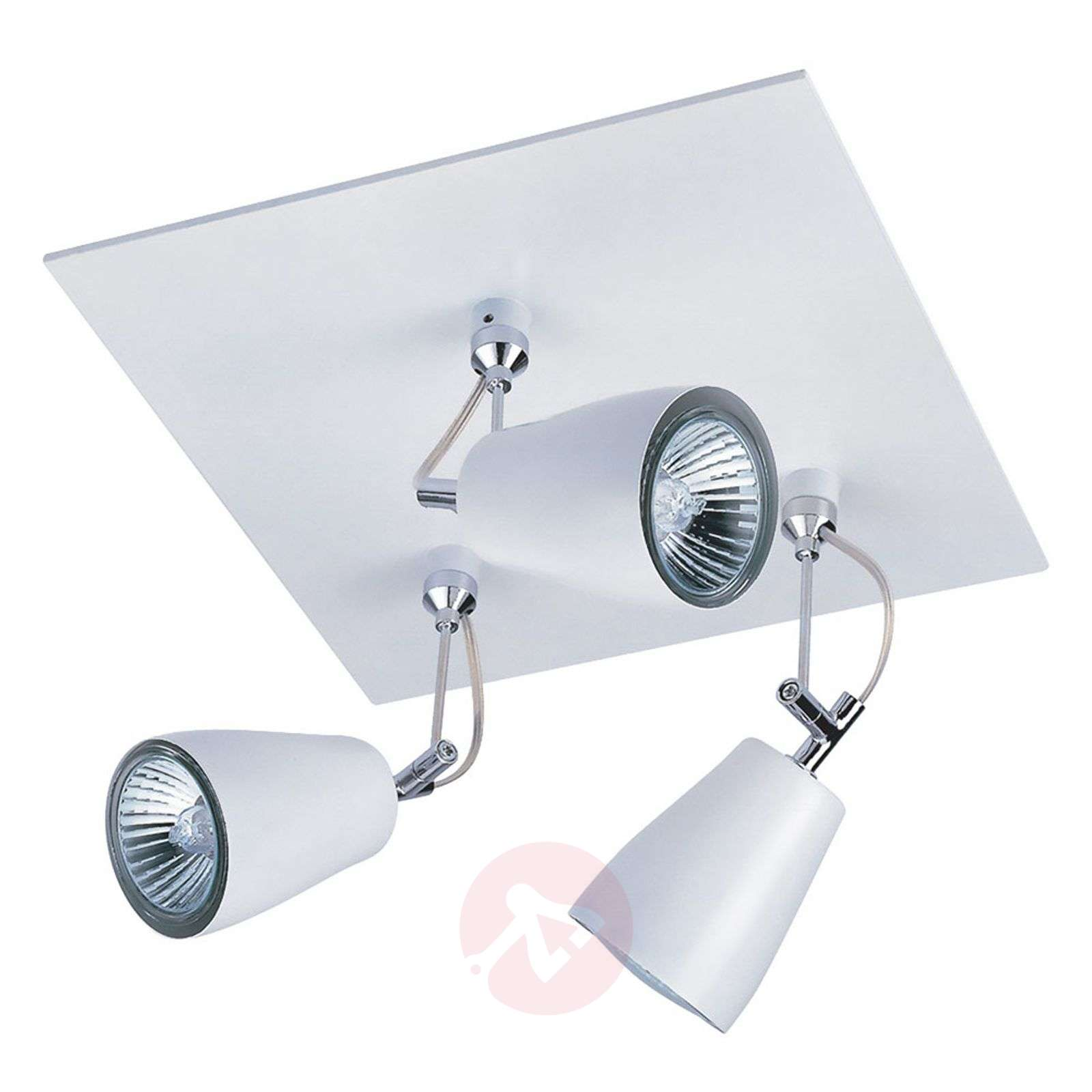 Polar Ceiling Spotlight Square-Shaped Three Bulbs-1020263-02