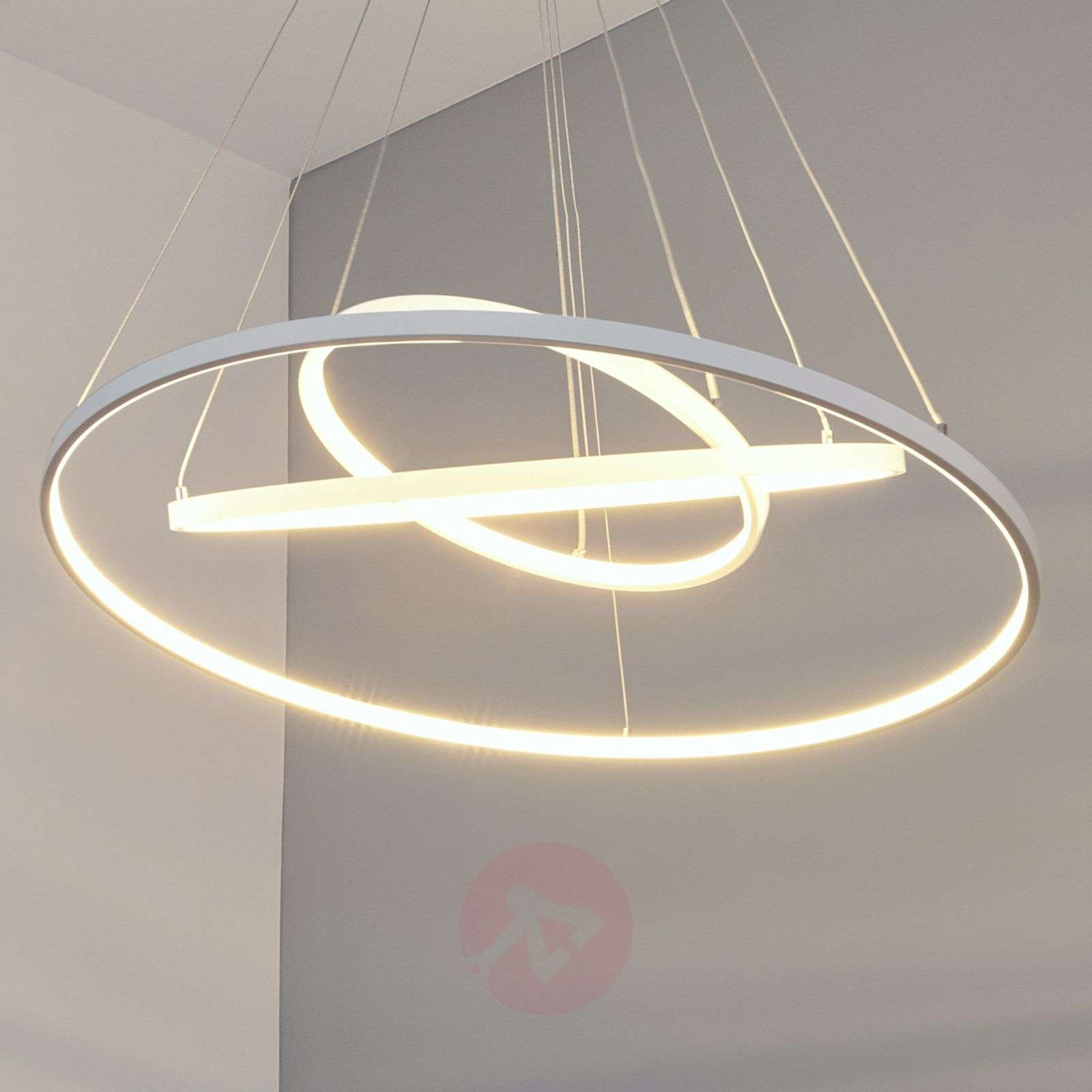 Powerful LED pendant lamp Eline with 3 rings-9987046-02