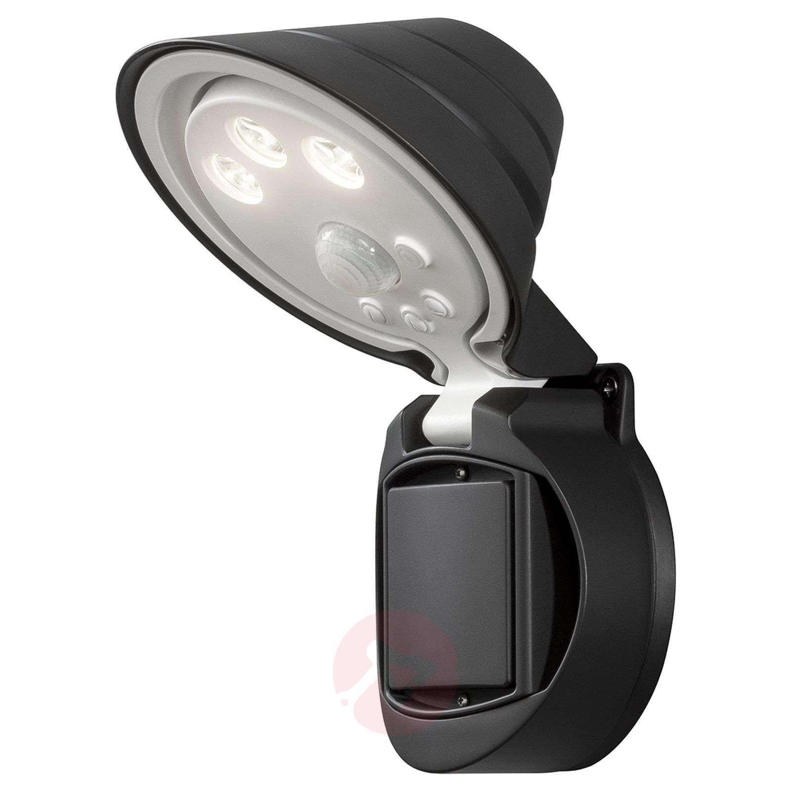 Prato LED outdoor spotlight, battery 16 cm wide-5522515-01