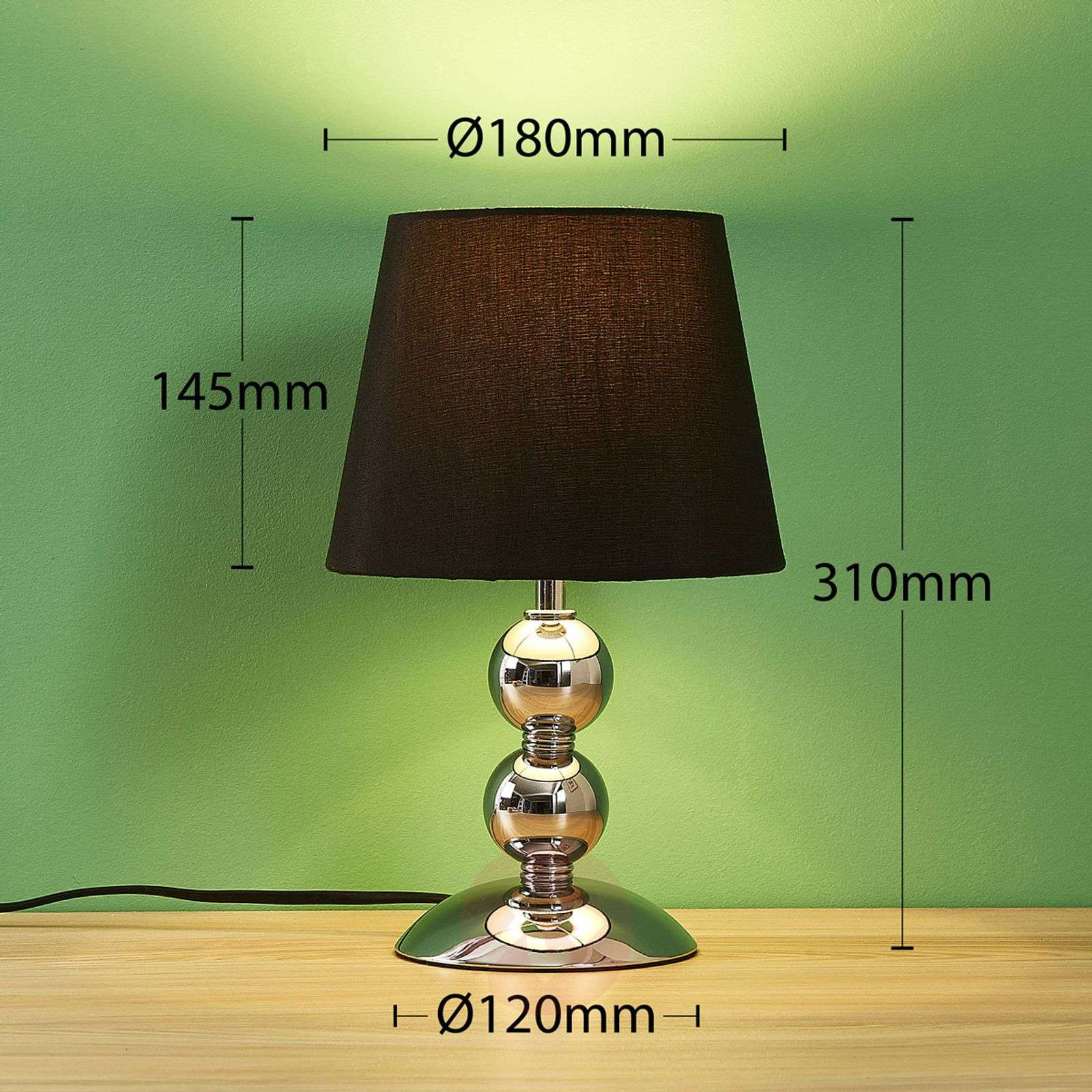 Pretty Fabric Table Lamp Betty With LED
