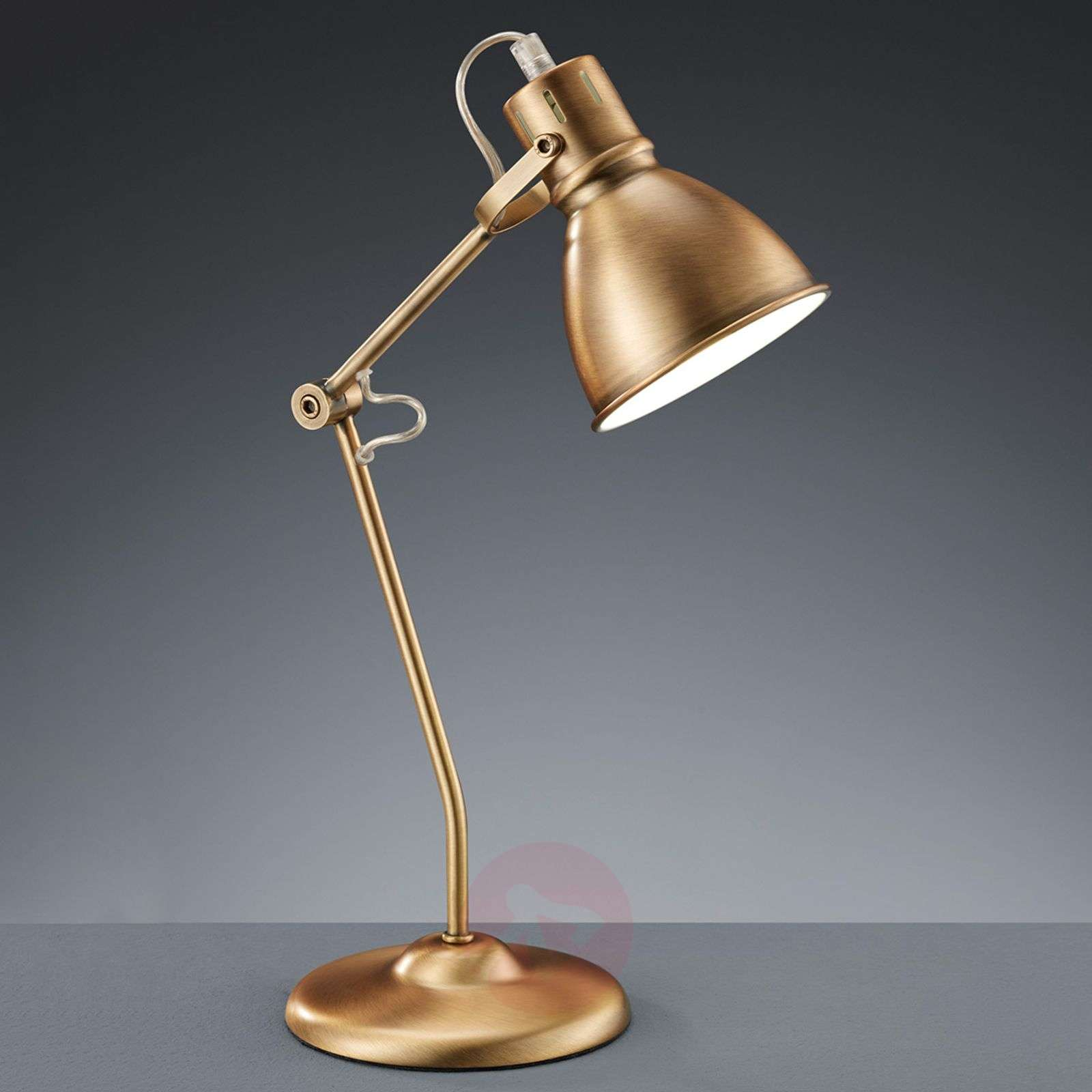 Pretty Keali table lamp, antique brass-9004960-01