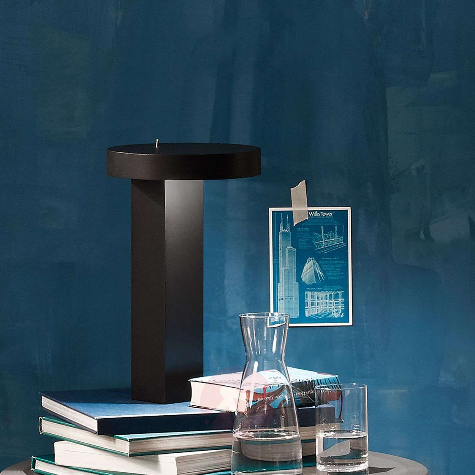 Puristic designer LED table lamp Bob-1071070X-01