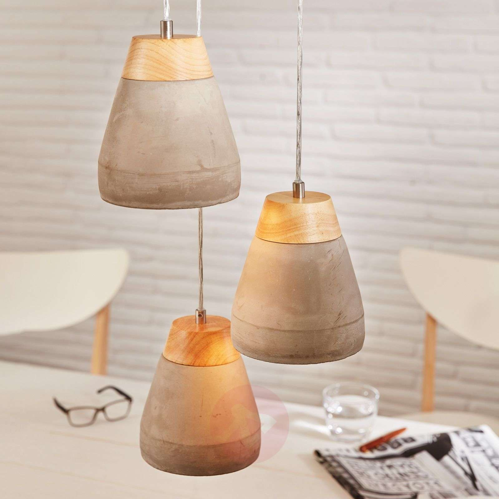 Puristic Tarega hanging light with concrete look-3031930-04
