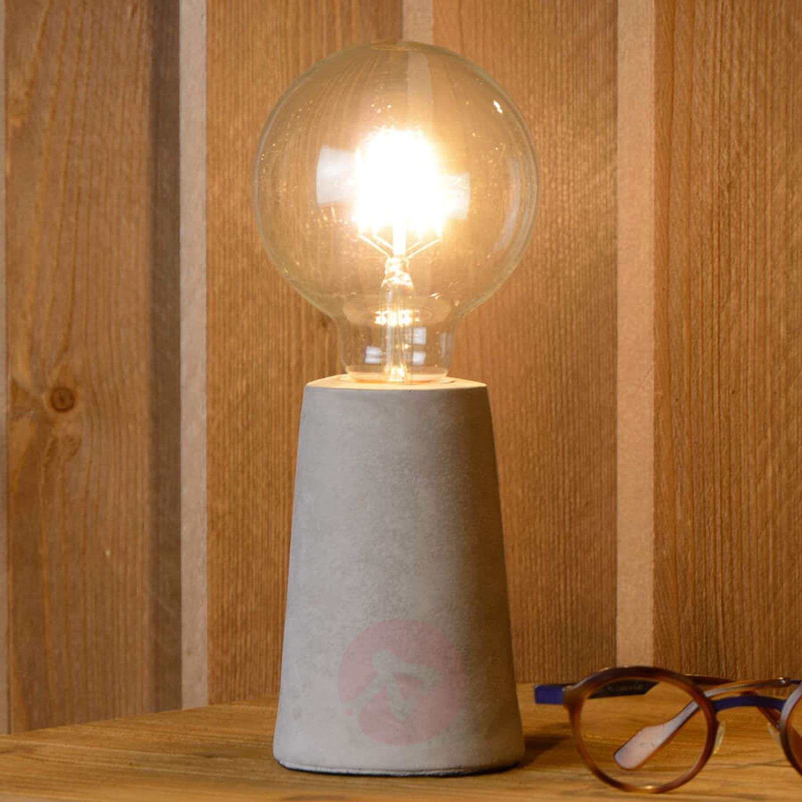 Puristical LED table lamp Concrete-6055114-01