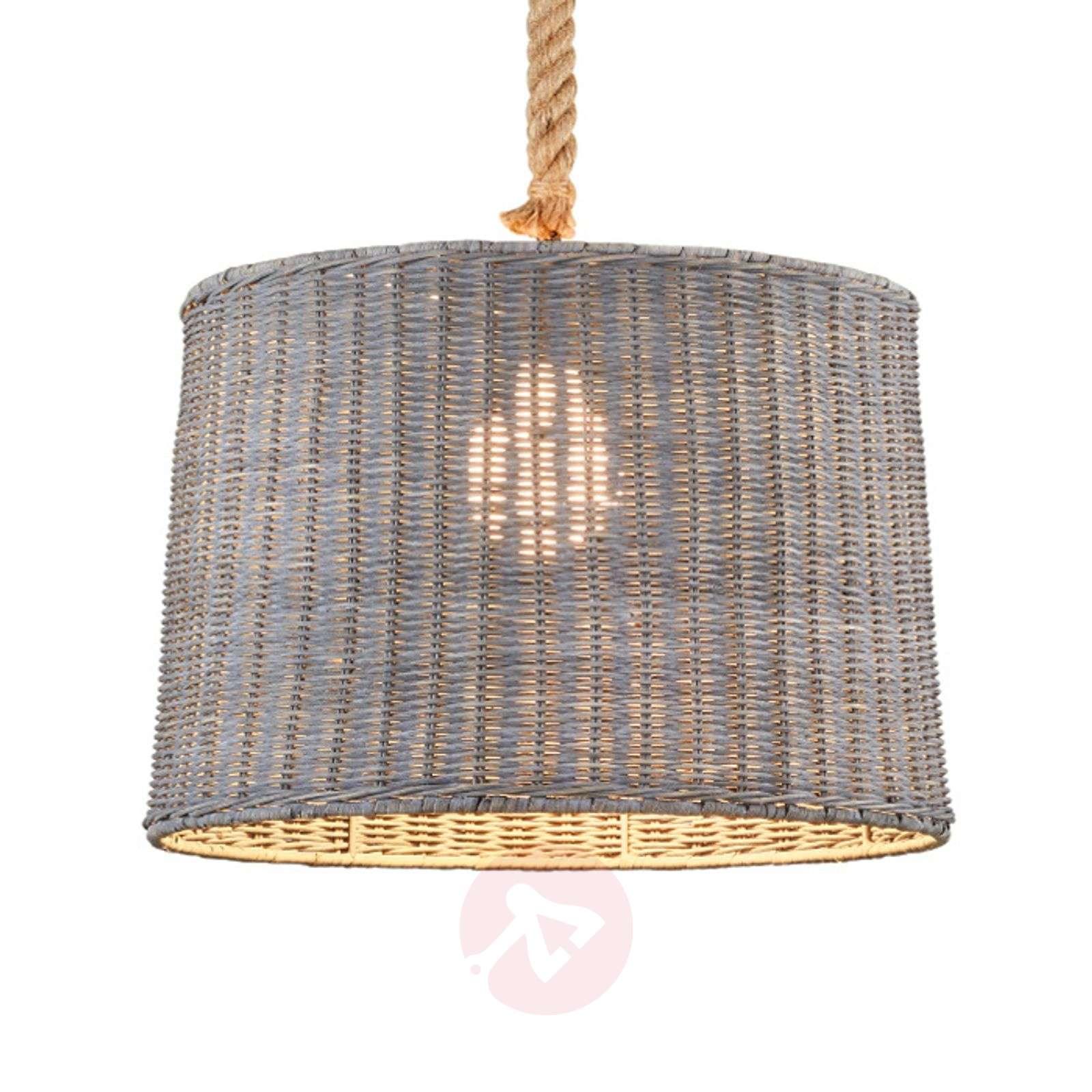 Rattan lampshade Pendant lamp Rotin one-bulb-9005297-01
