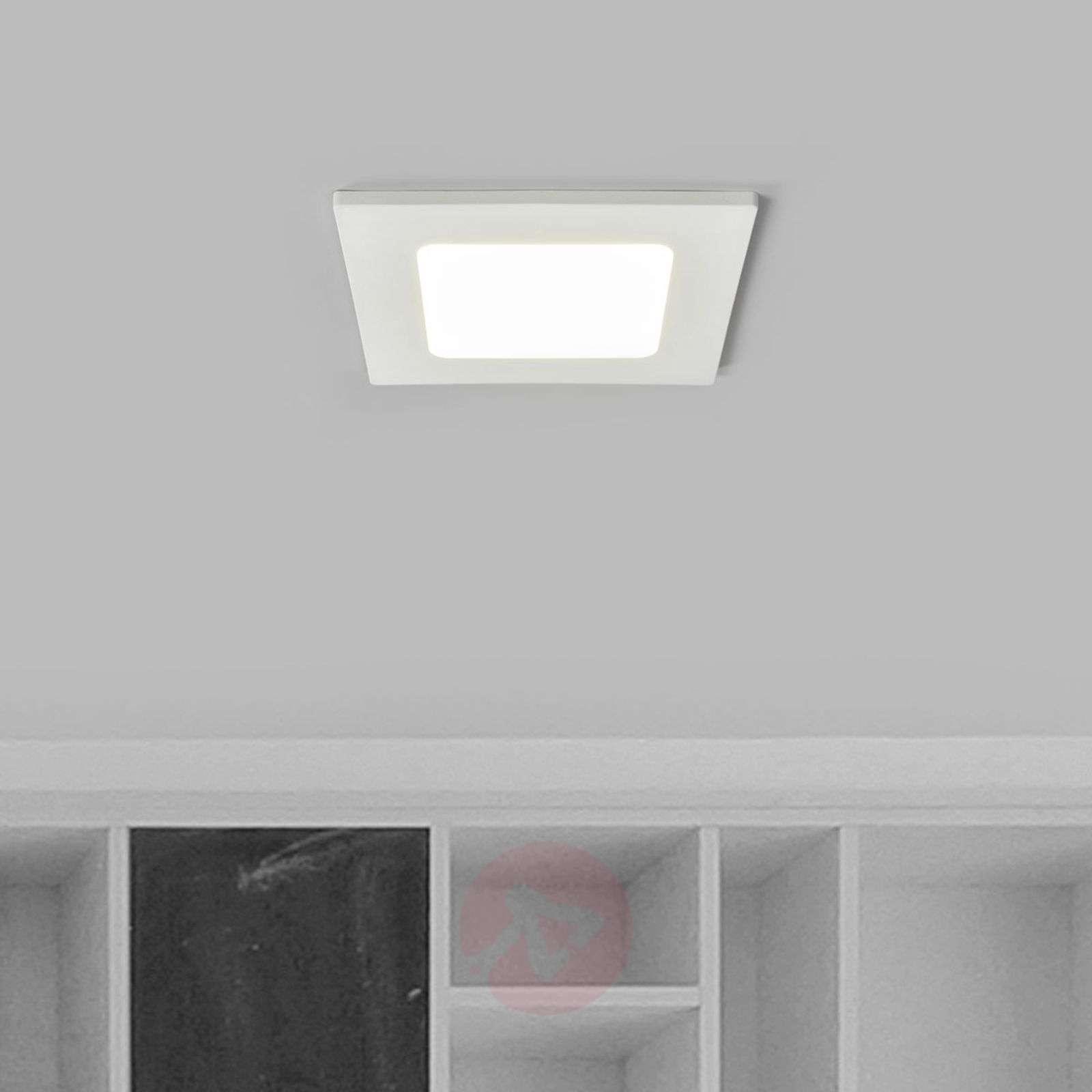 Recessed light Joki in white, LED IP44, square-9978060-02