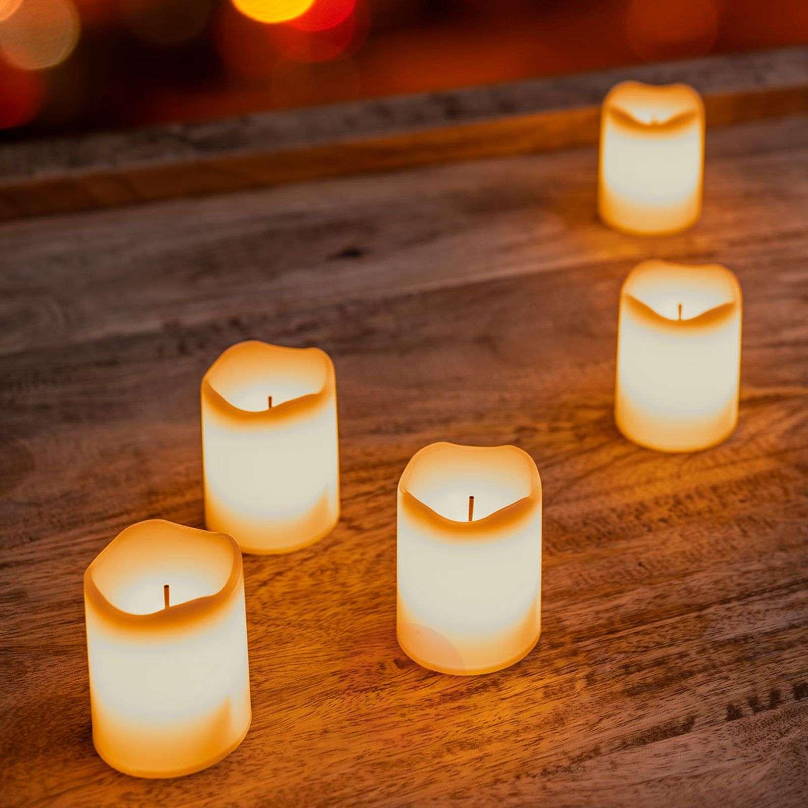 Rechargeable LED tea light Chargeme, set of 6-1523172-01