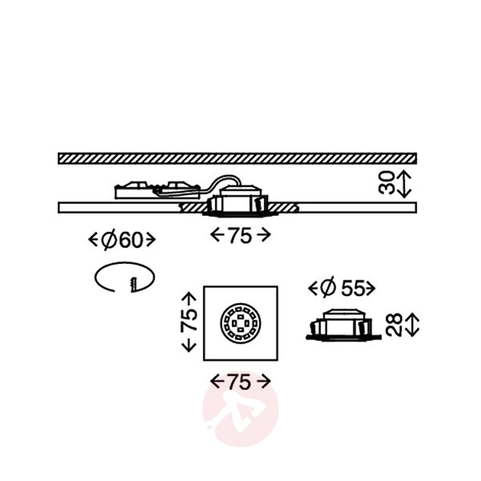 Rect. LED recessed light Ben, outdoor, matt nickel-1510335-01