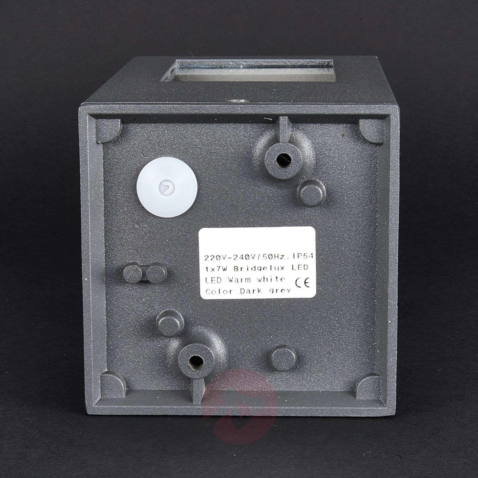 Rectangular Nicola LED pillar light, IP54-9618008-01