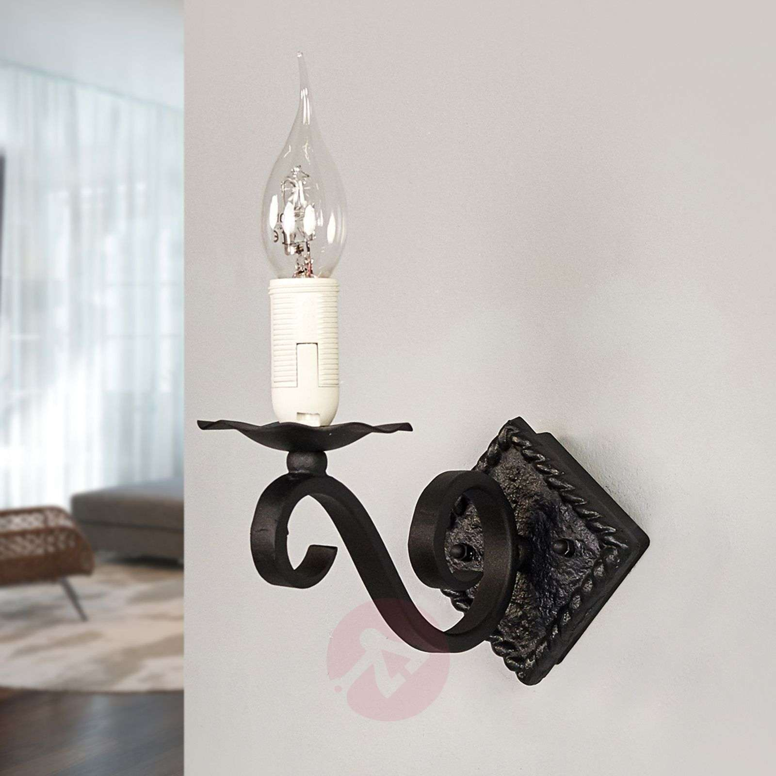 Rectory Wall Light Wrought Iron-3048067X-03