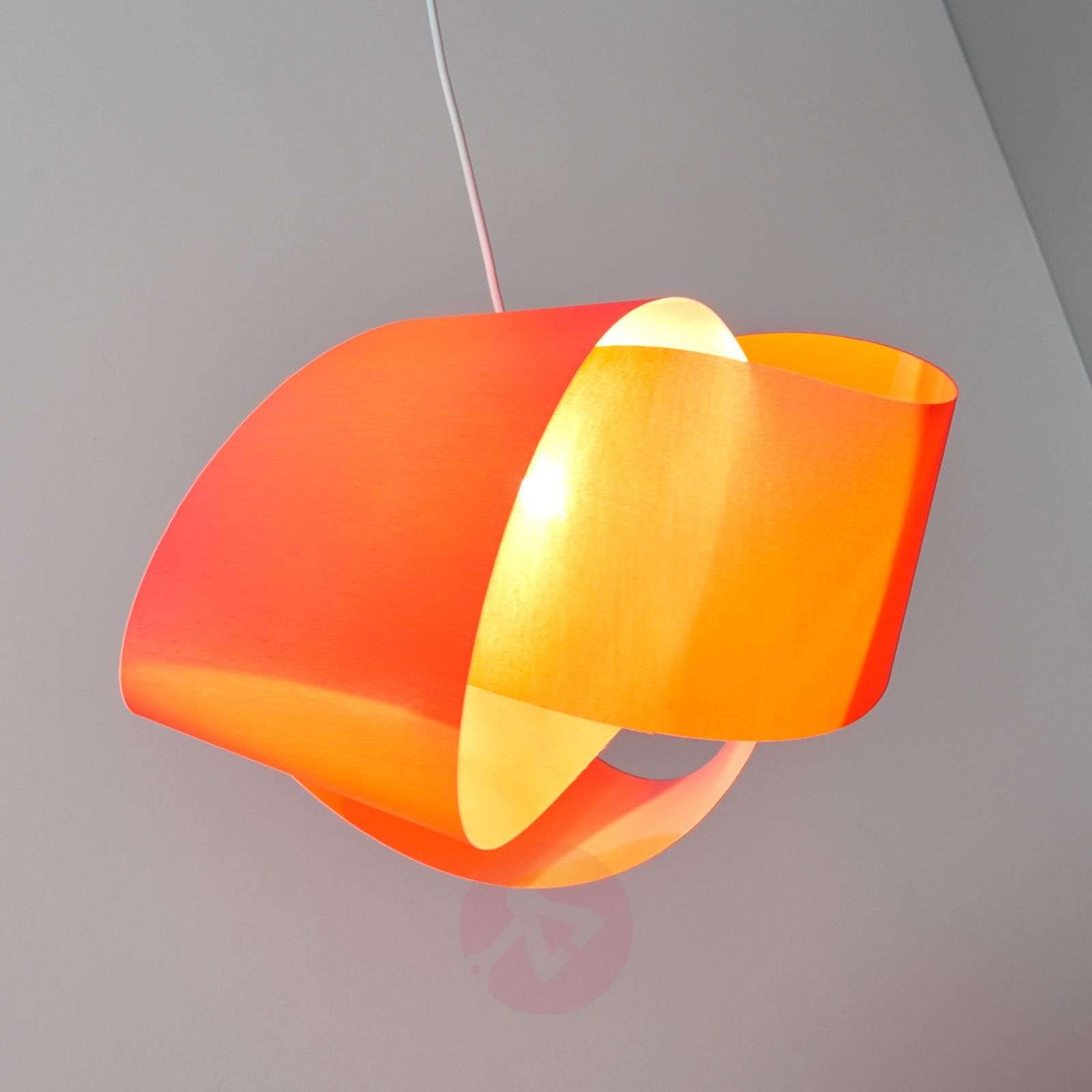 Red fabric pendant lamp Faya-9639029-01