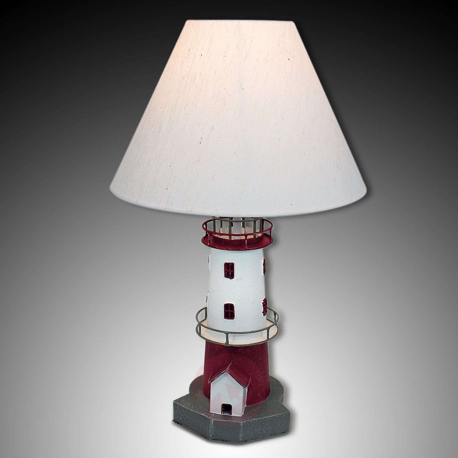 Red Striped Lighthouse Table Lamp Piet Lights Ie
