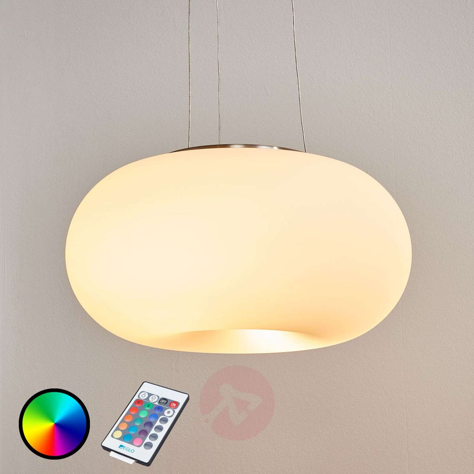 Remote-controlled LED hanging light Optica-C RGBW-3031992-01