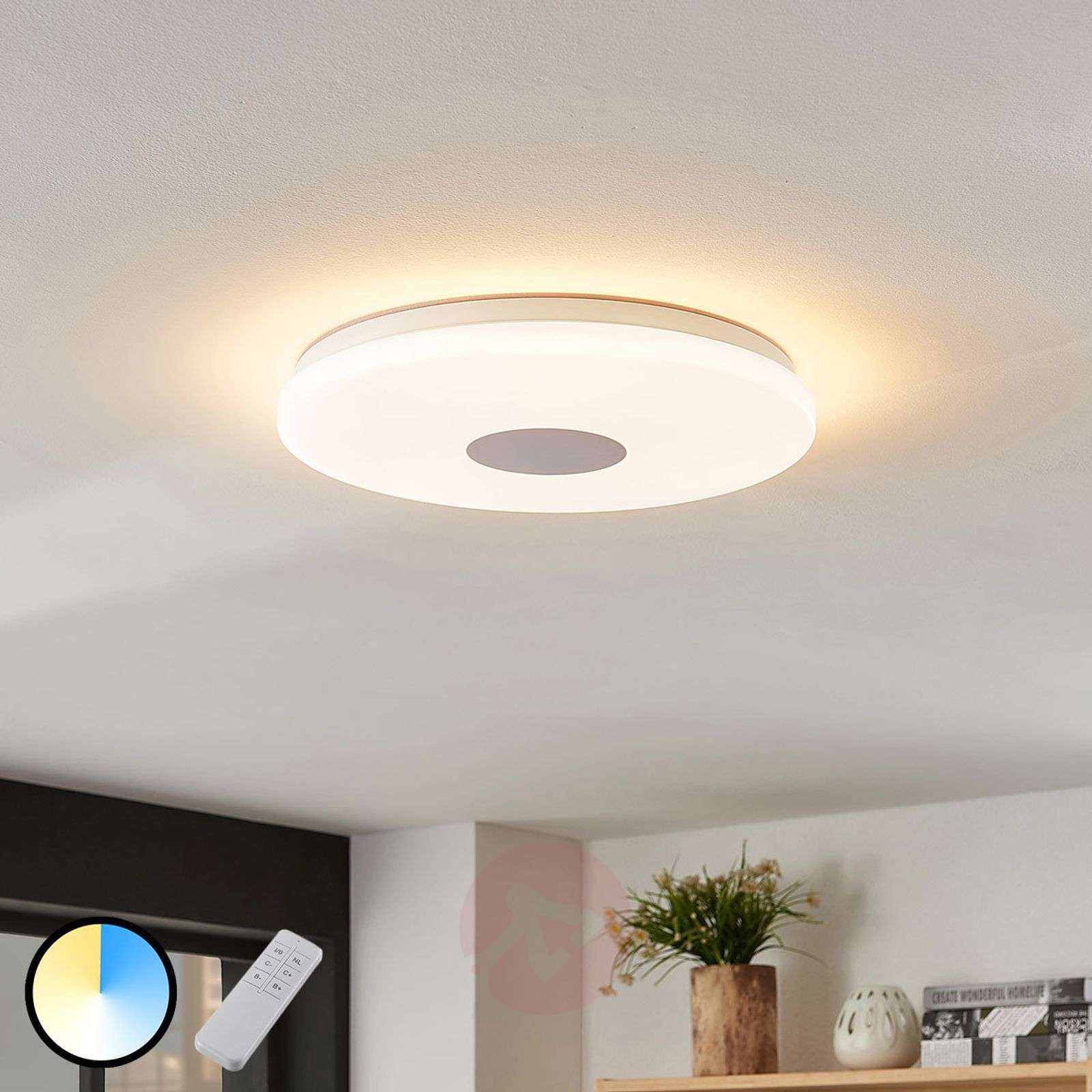 separation shoes f8873 cdff6 Renee LED ceiling lamp, adj. luminous colour 15 W