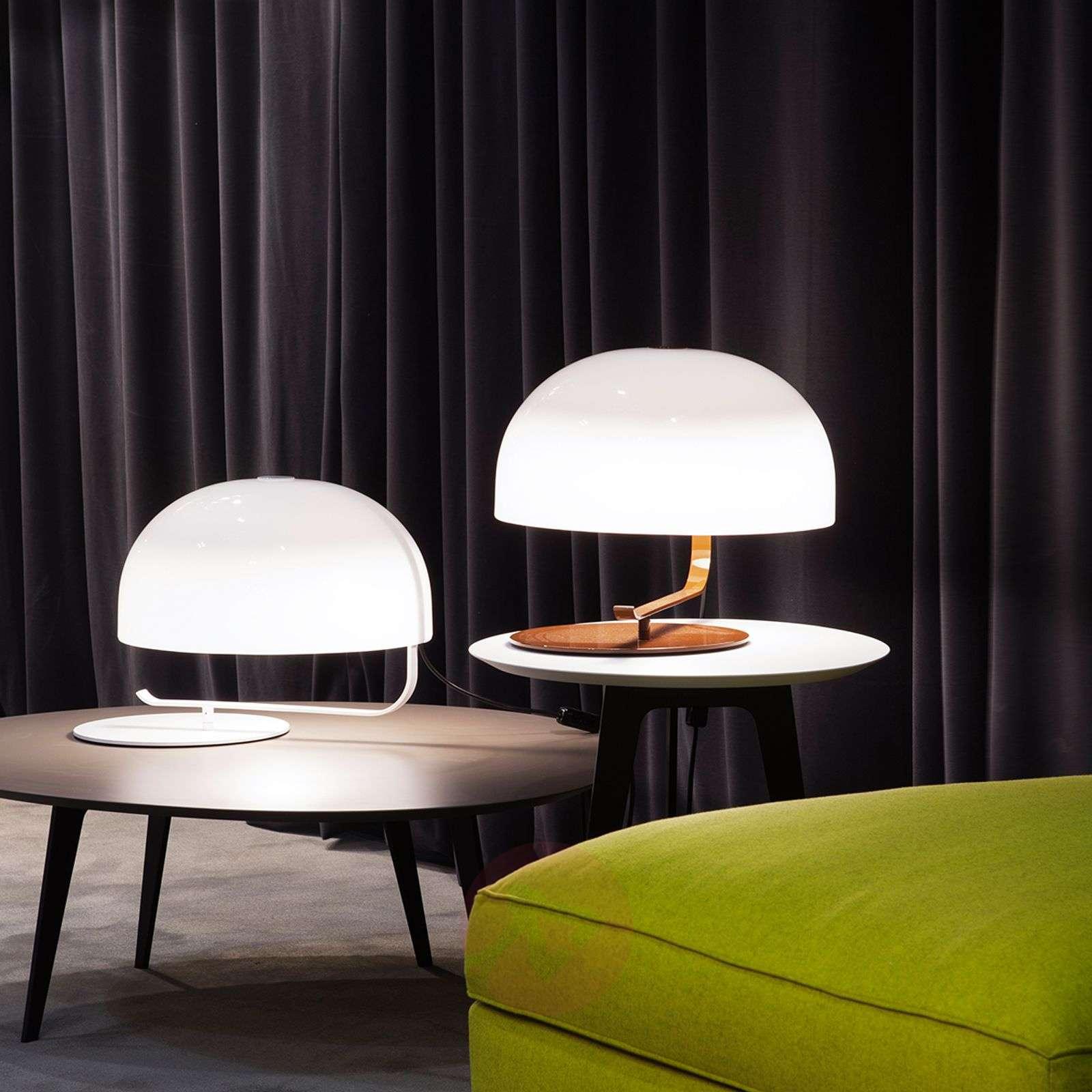 Retro designer table lamp Zanuso in white-7265079-01