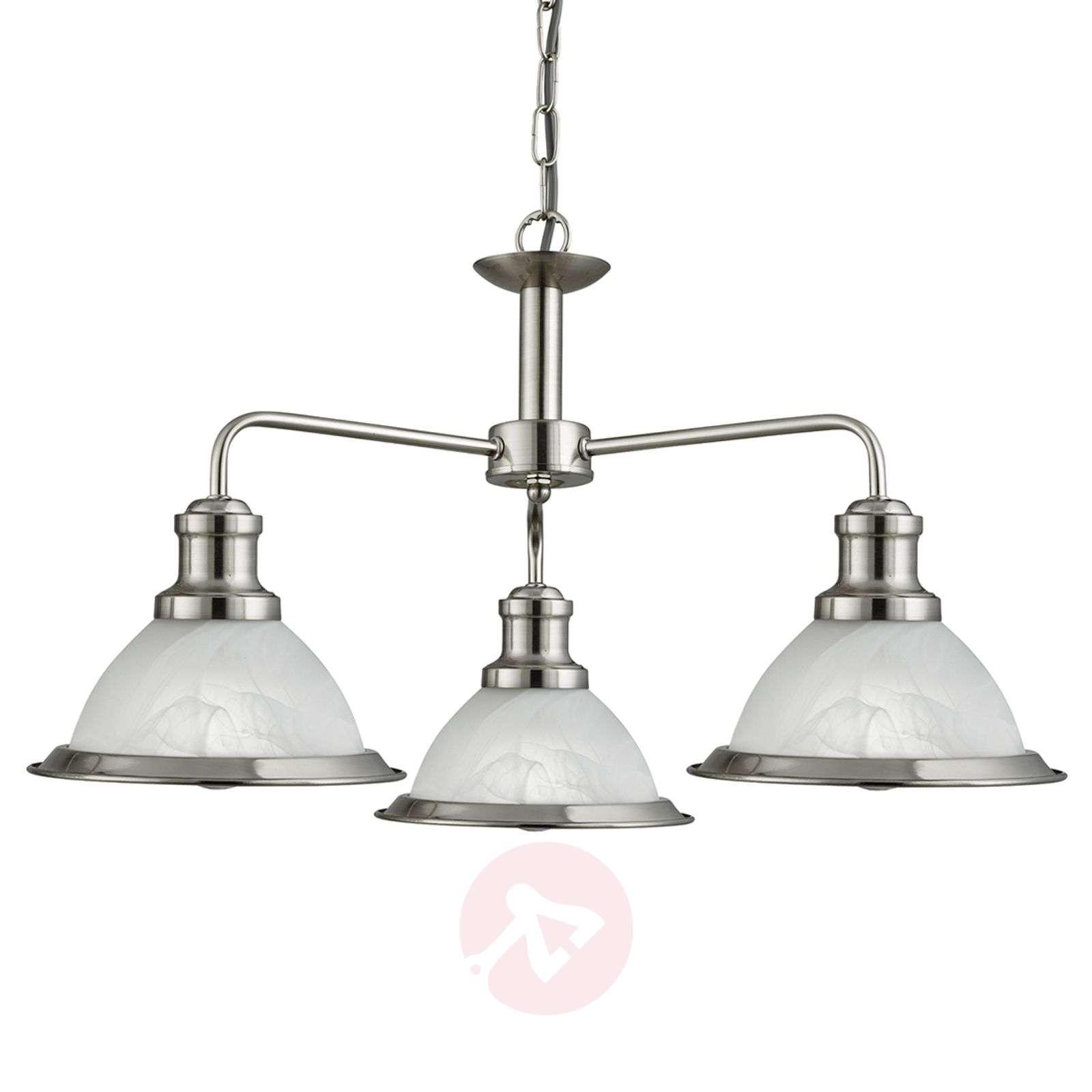 Retro-style 3-bulb Bistro hanging light-8570914-01