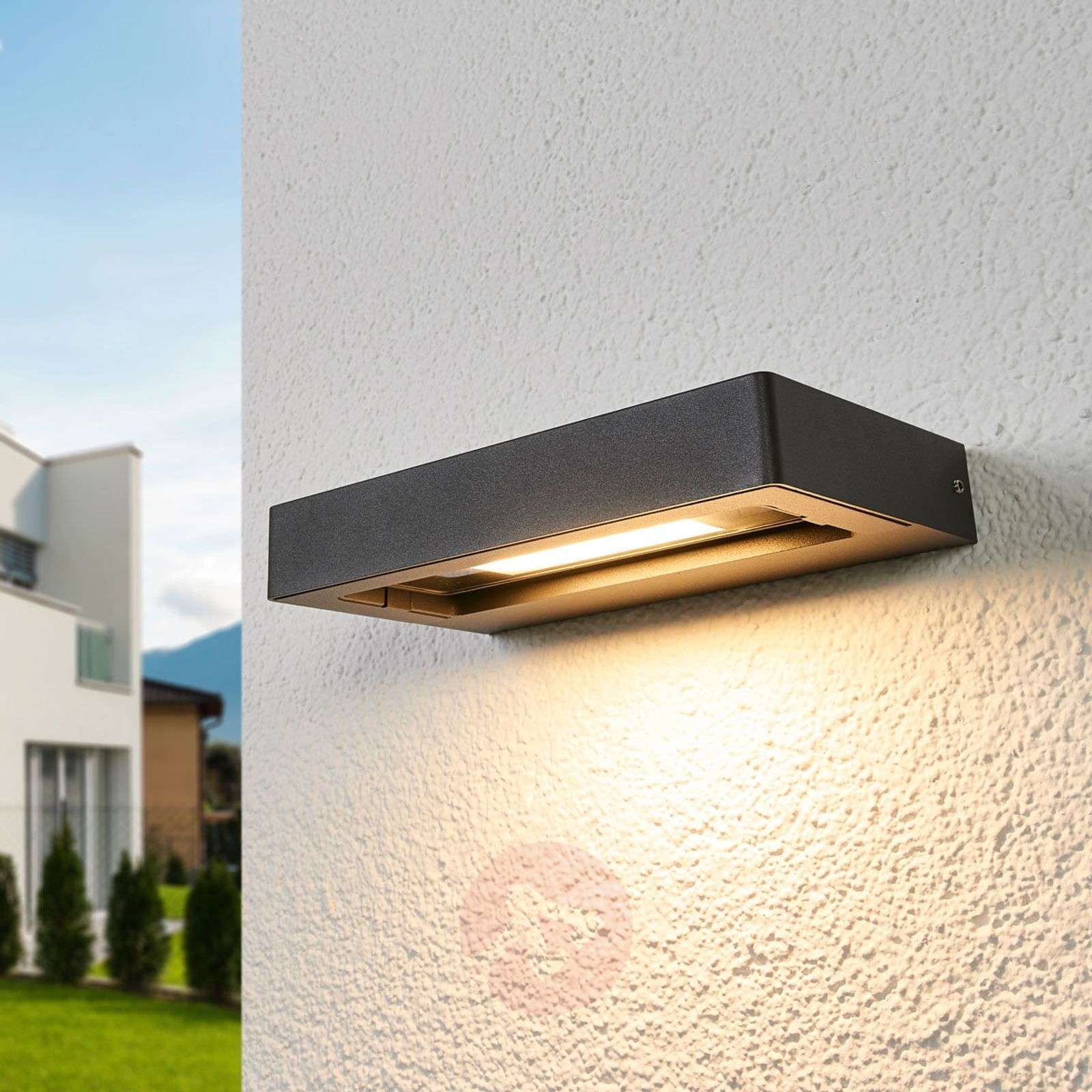 new arrivals c785e b6197 Richa LED outdoor wall lamp, adj. light outlet