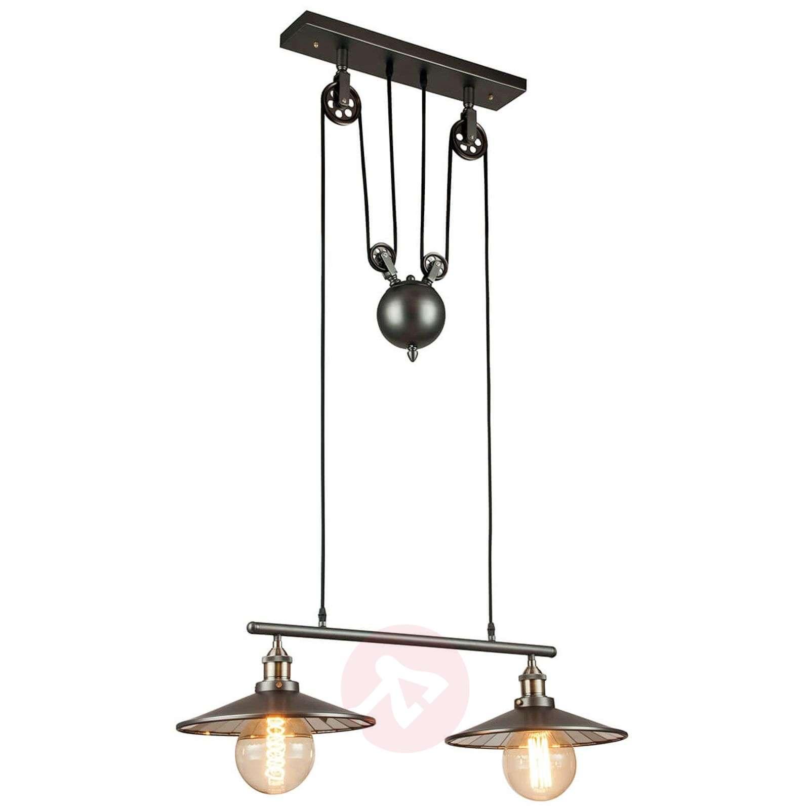 Rise And Fall Hanging Lamp Arkita Black 2 Bulb 3006657 01