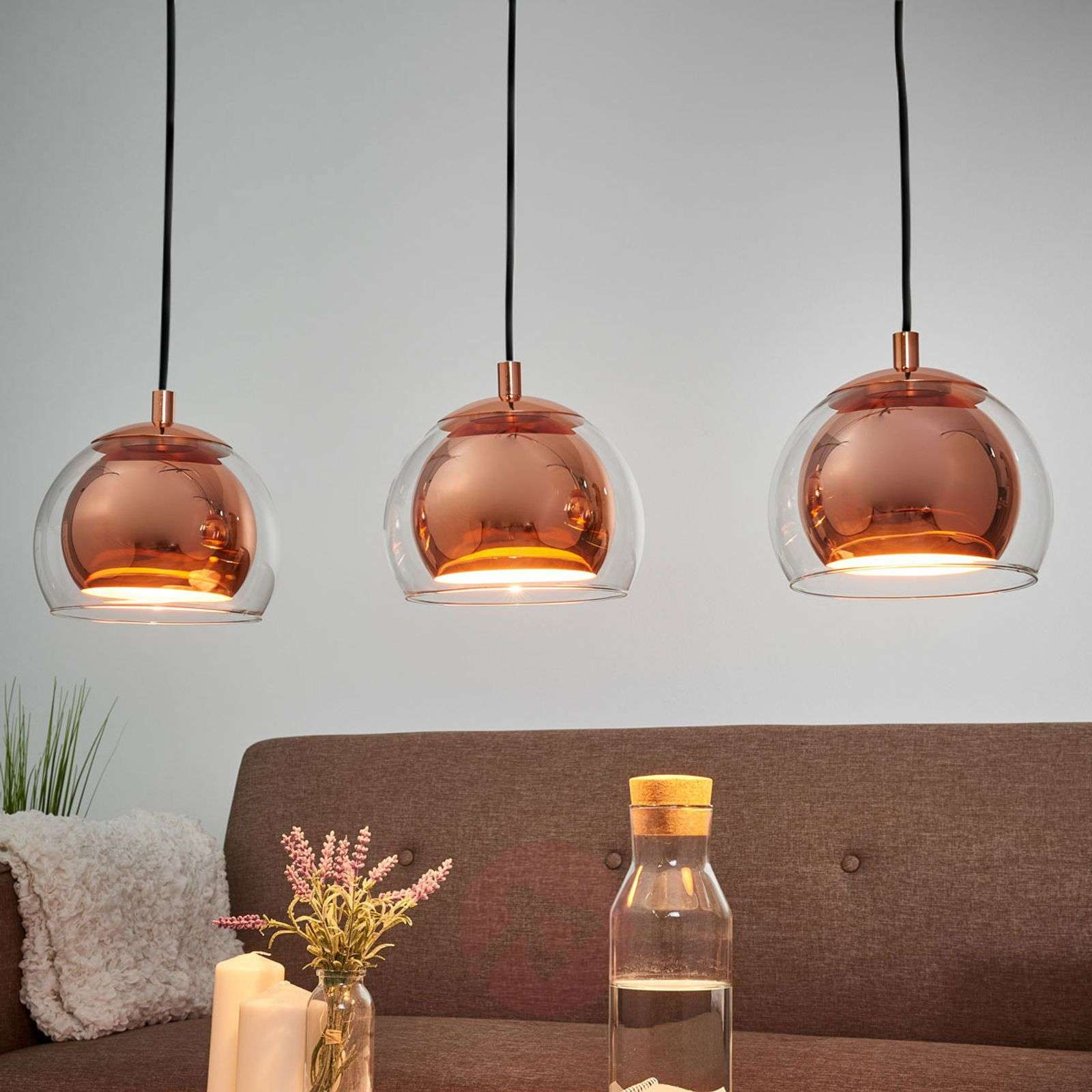 Rocamar a three-bulb pendant light-3031751-01