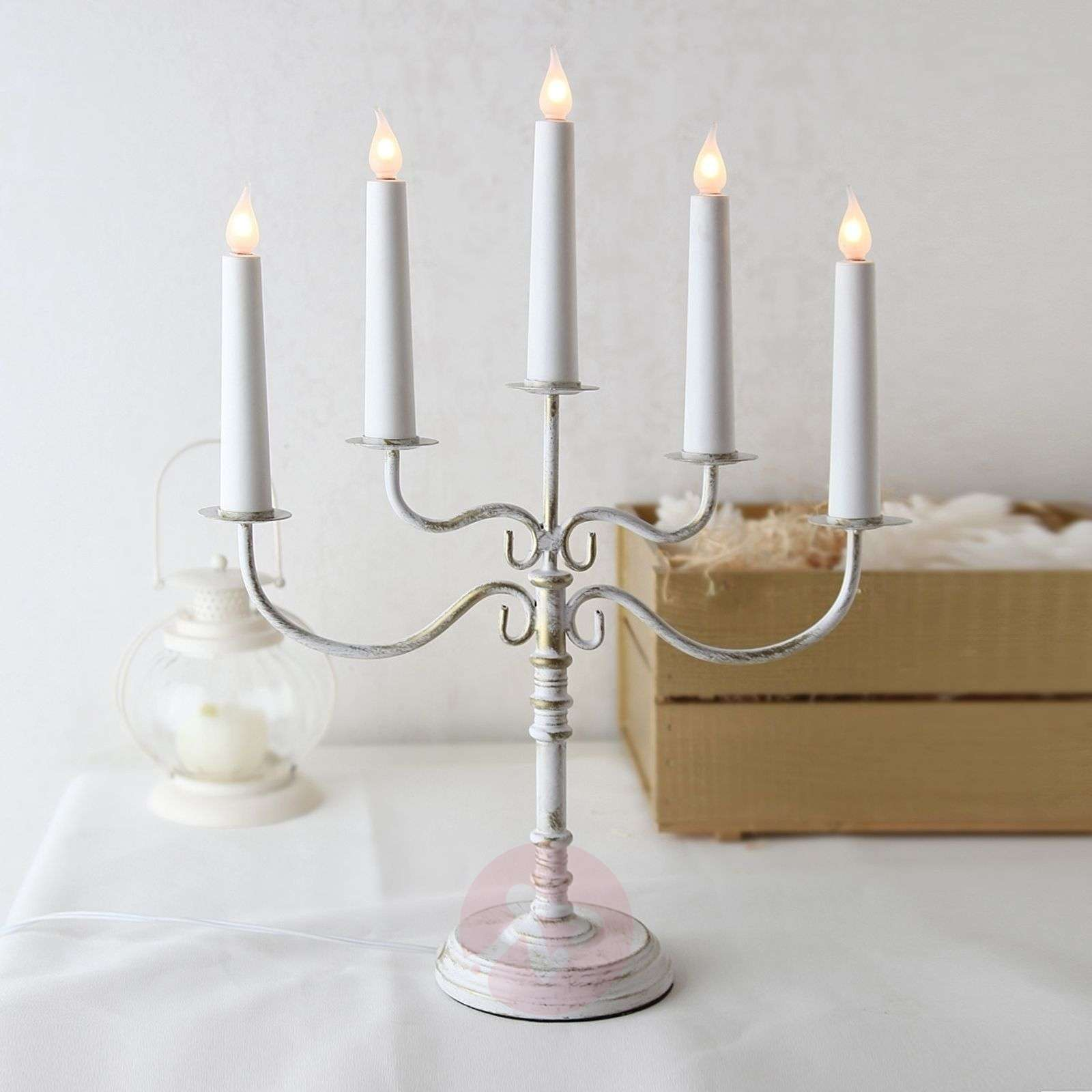 Romantic candleholder Romantika, white-1522368-01