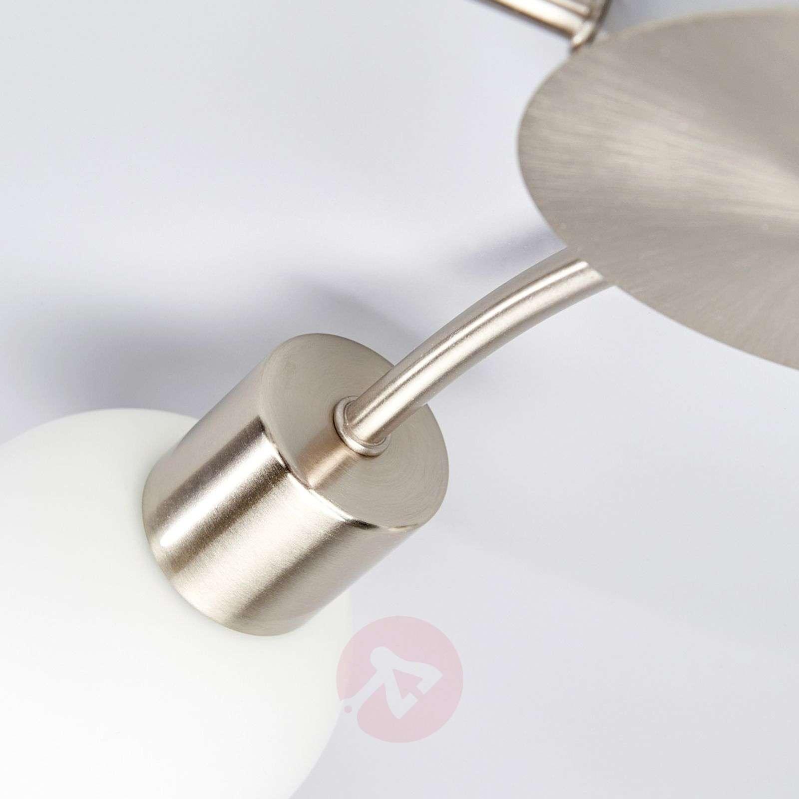 Round 5-bulb LED ceiling light Elaina, matt nickel-9620034-01