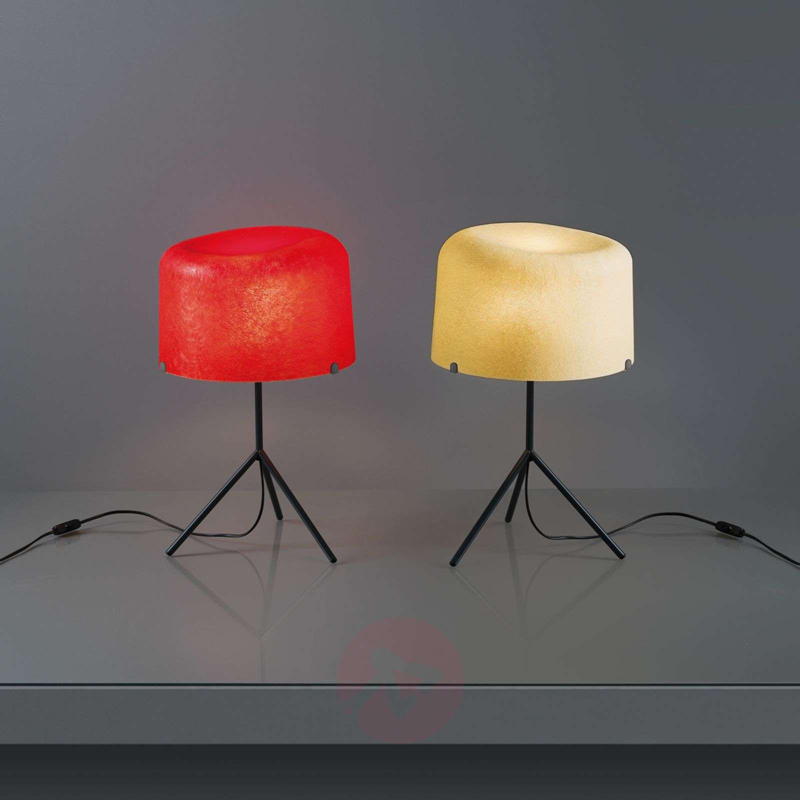 Round fibre glass lampshade Ola table lamp-5501145X-01
