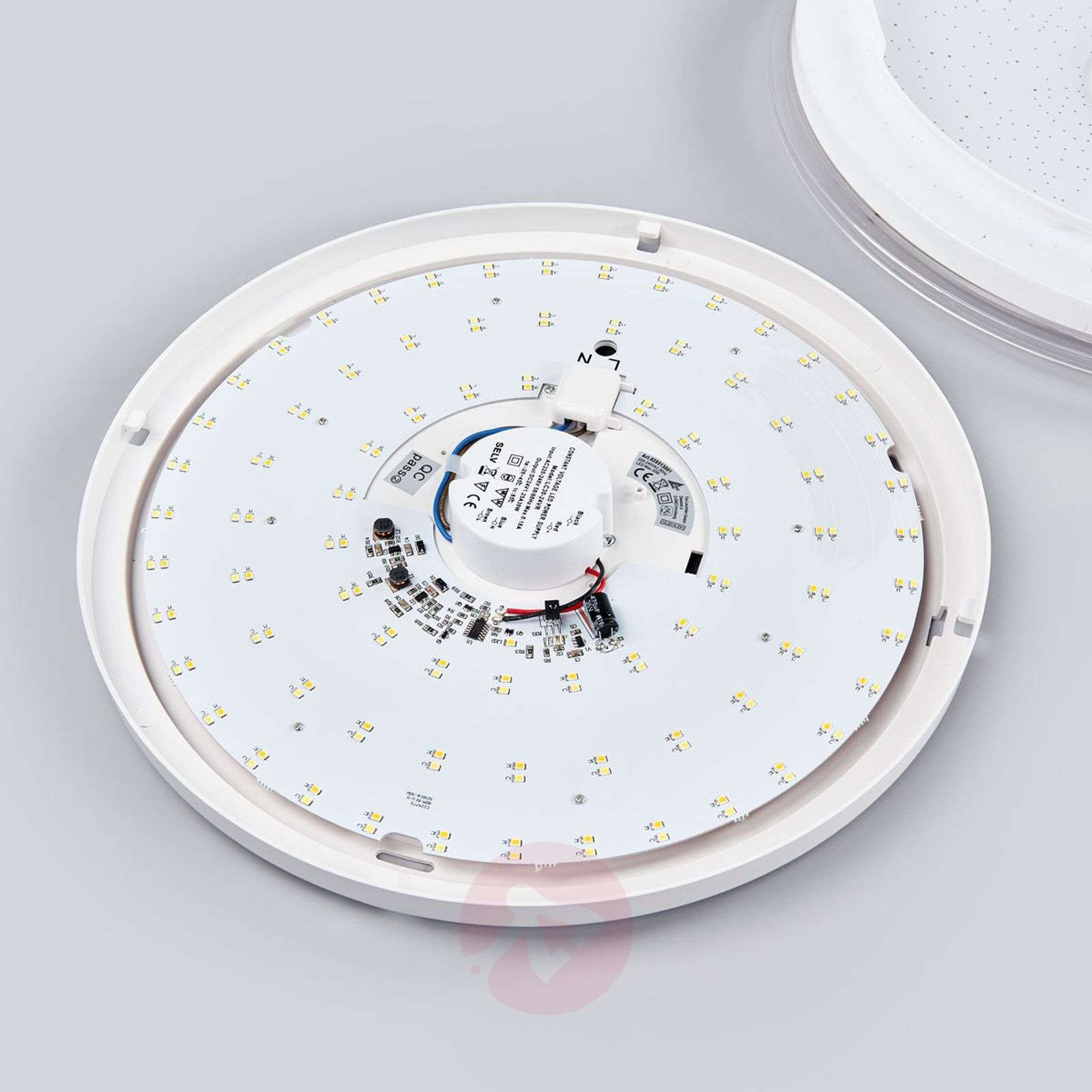 Round LED ceiling light Shogun with glitter effect-9005253-011