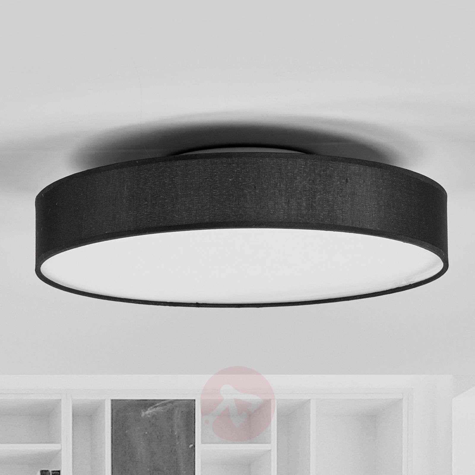 Round led fabric ceiling lamp saira in black lights round led fabric ceiling lamp saira in black 9625090 02 aloadofball Choice Image