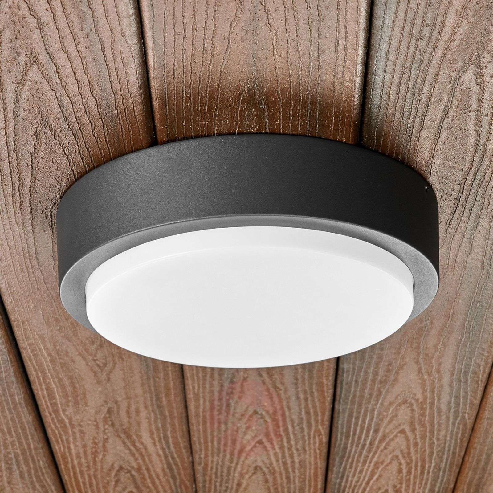 Round Led Outdoor Wall Light Maxine 9955002 02