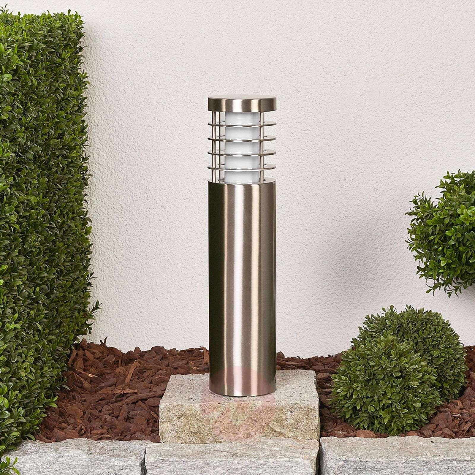 Round LED pillar light Dila, stainless steel-9945016-01