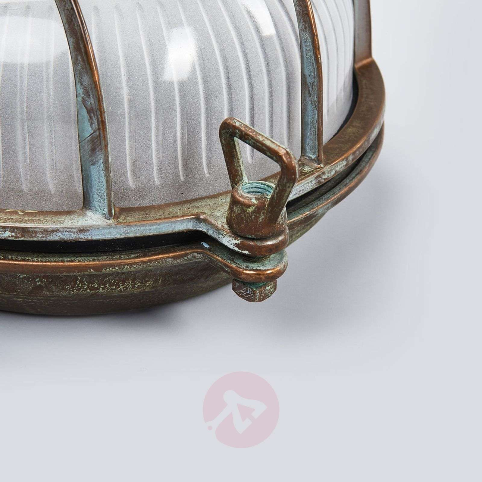 Round outdoor wall light Bengt antique brass-6515266-01