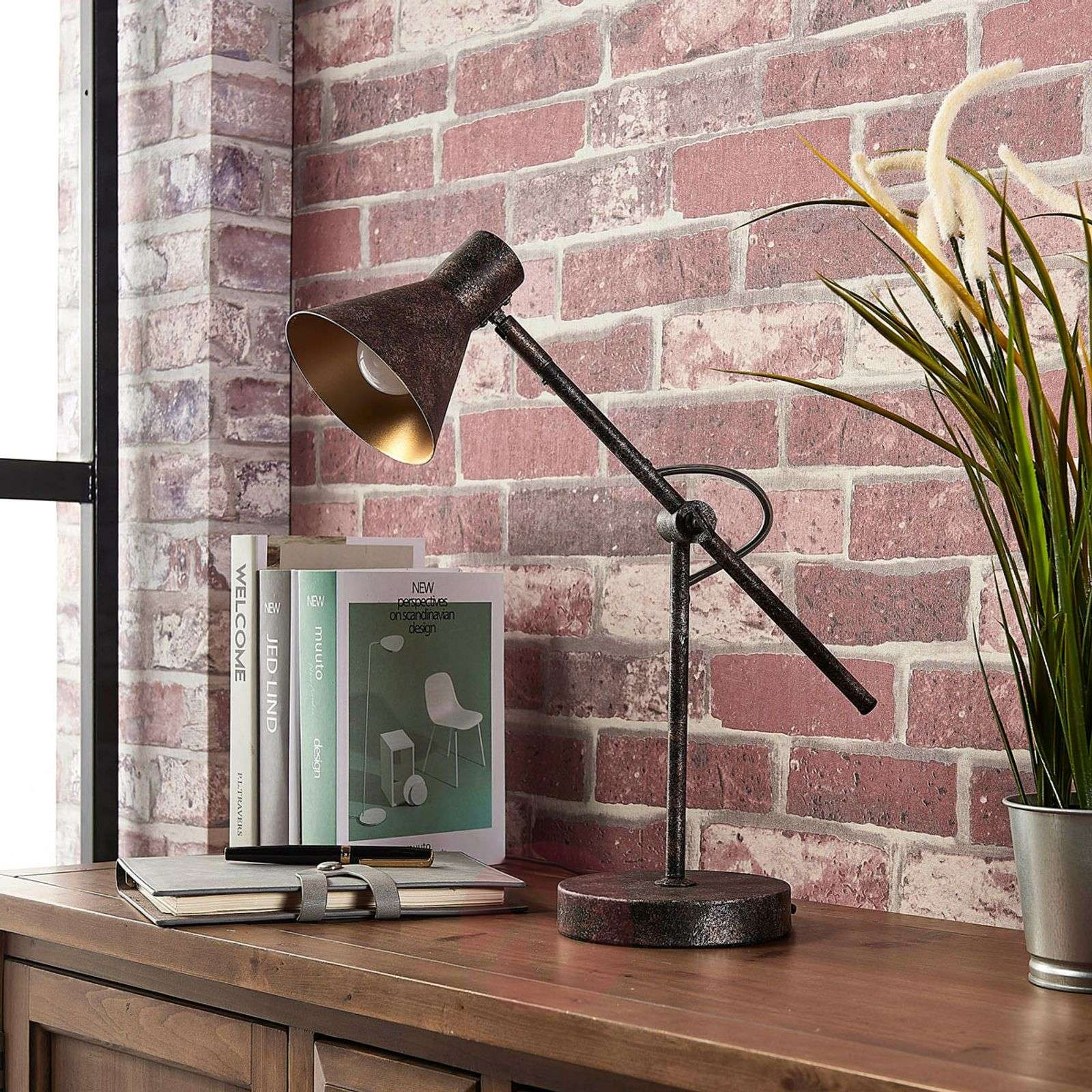 Rust-coloured LED table lamp Zera, Easydim-9621544-02