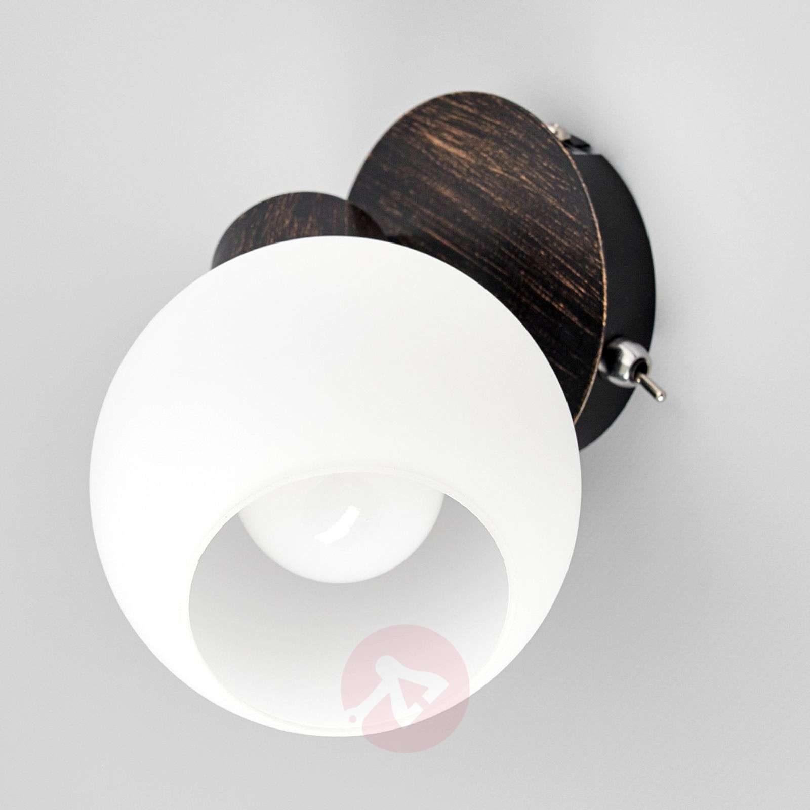 Rust coloured LED wall light Elaina-9620019-01