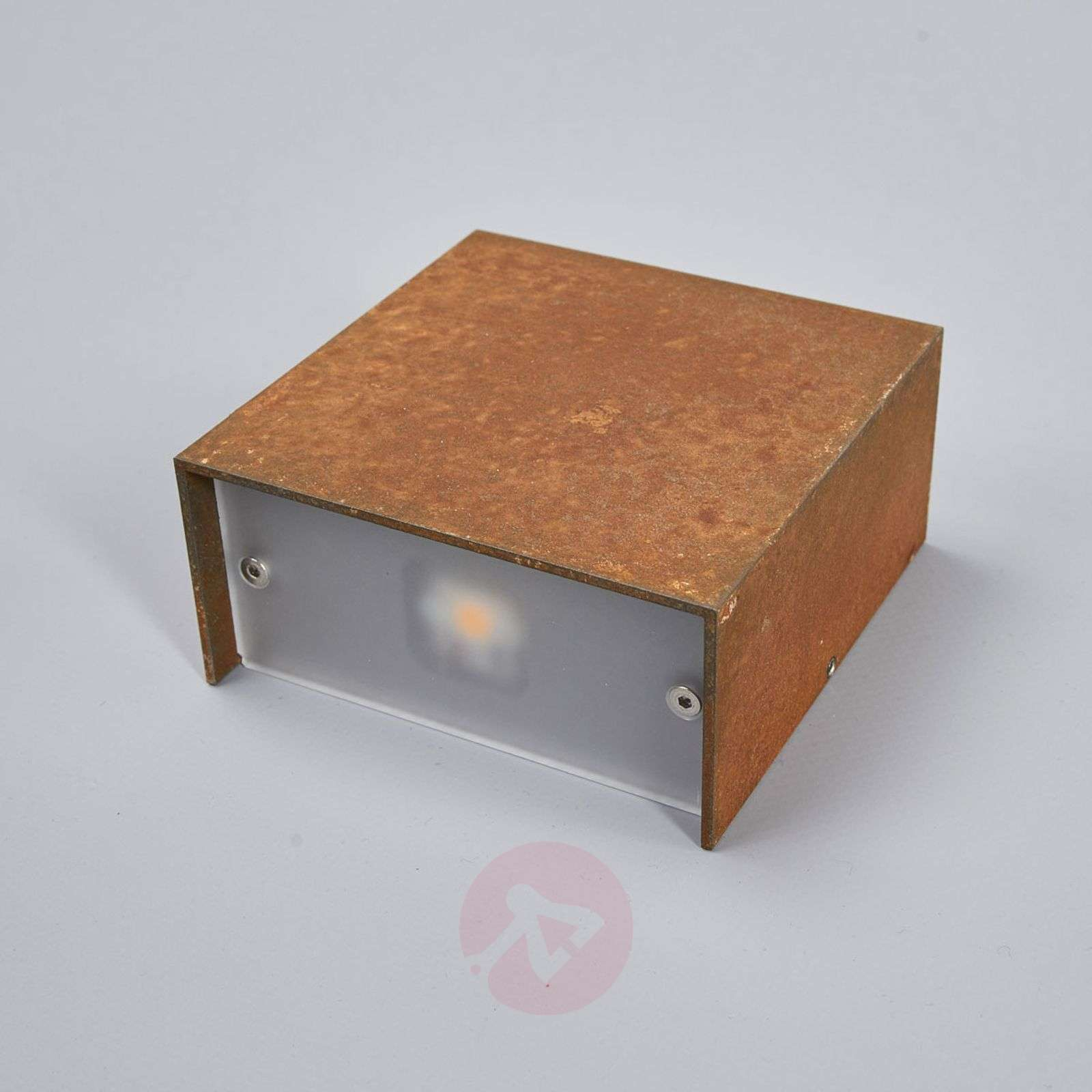 Rust-coloured LED wall light Mira German-made-6722434-01