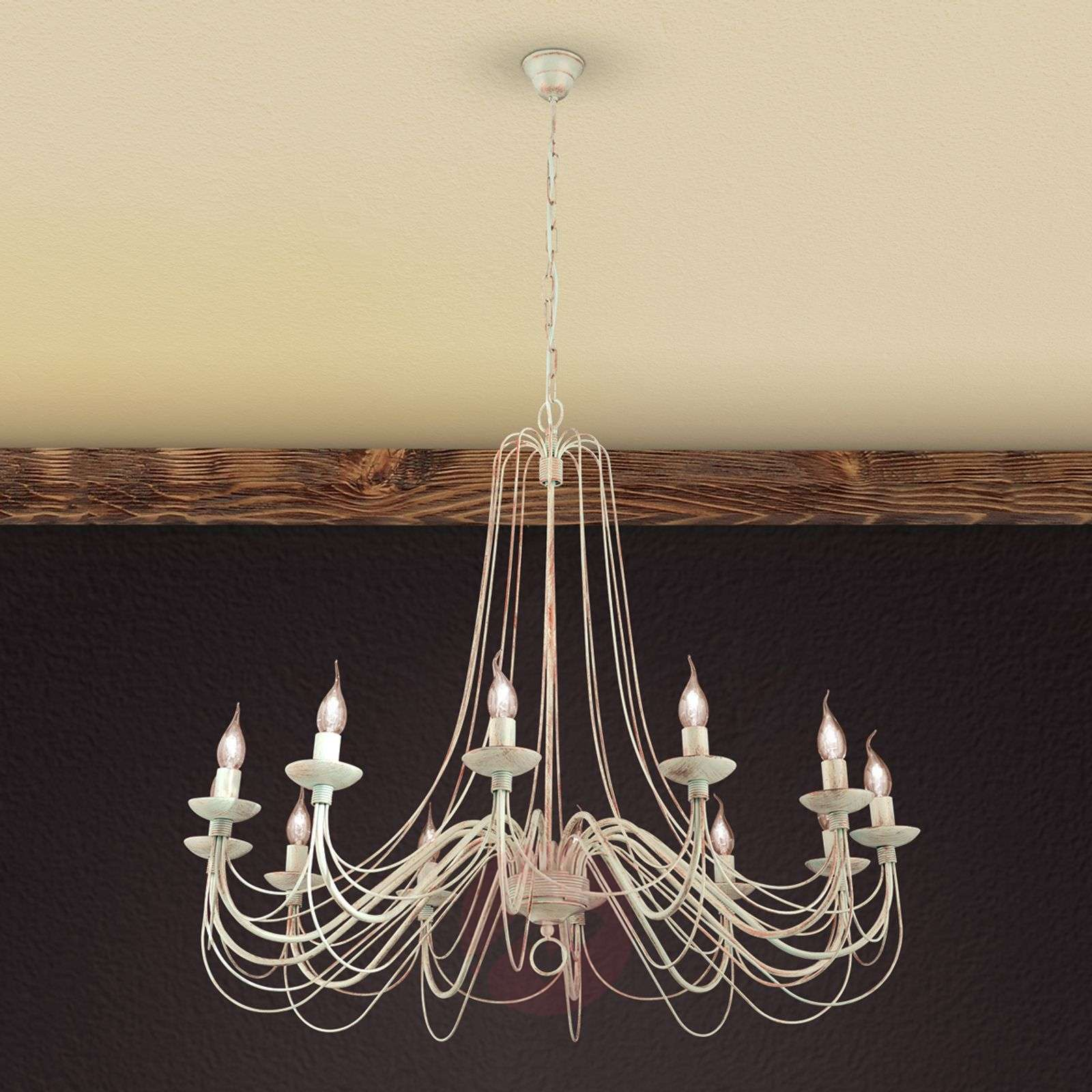 Rustic Country Style Chandelier Antonina 12 Light