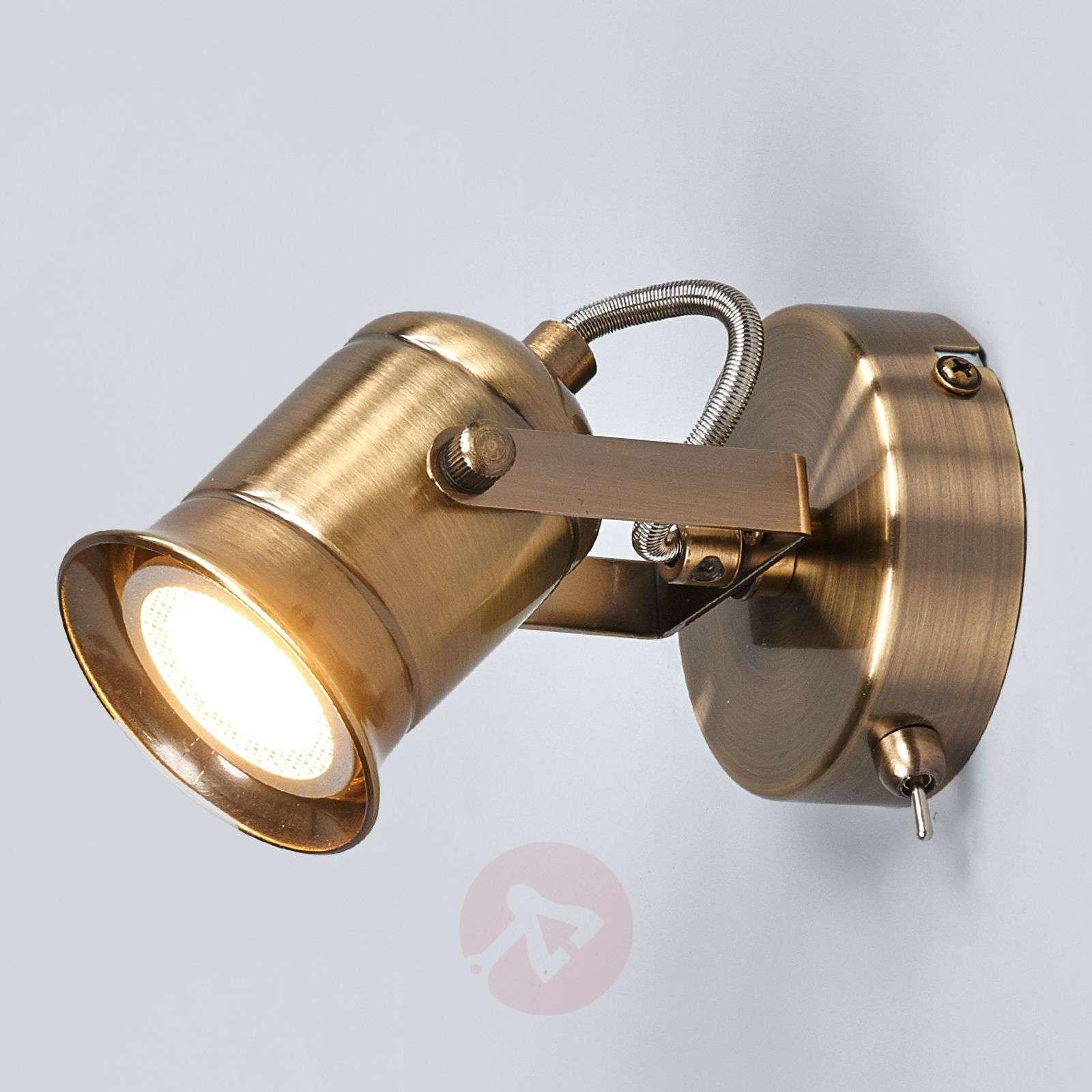 Rustic GU10 spotlight Marlis, antique brass-9634033-09