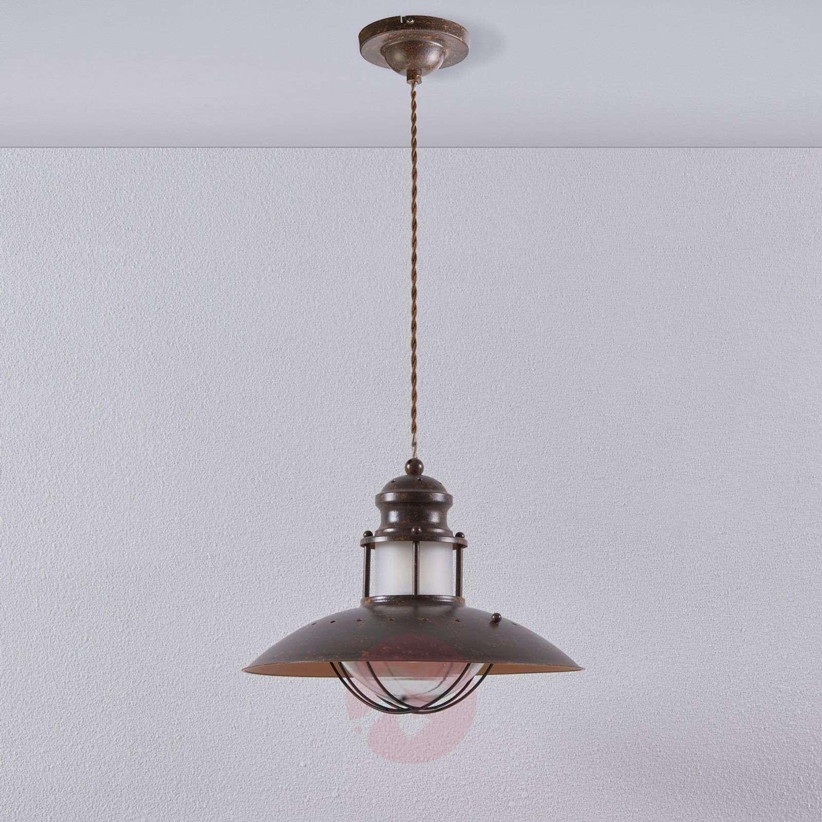 Rustic Louisanne pendant lamp in brown-9621017-02