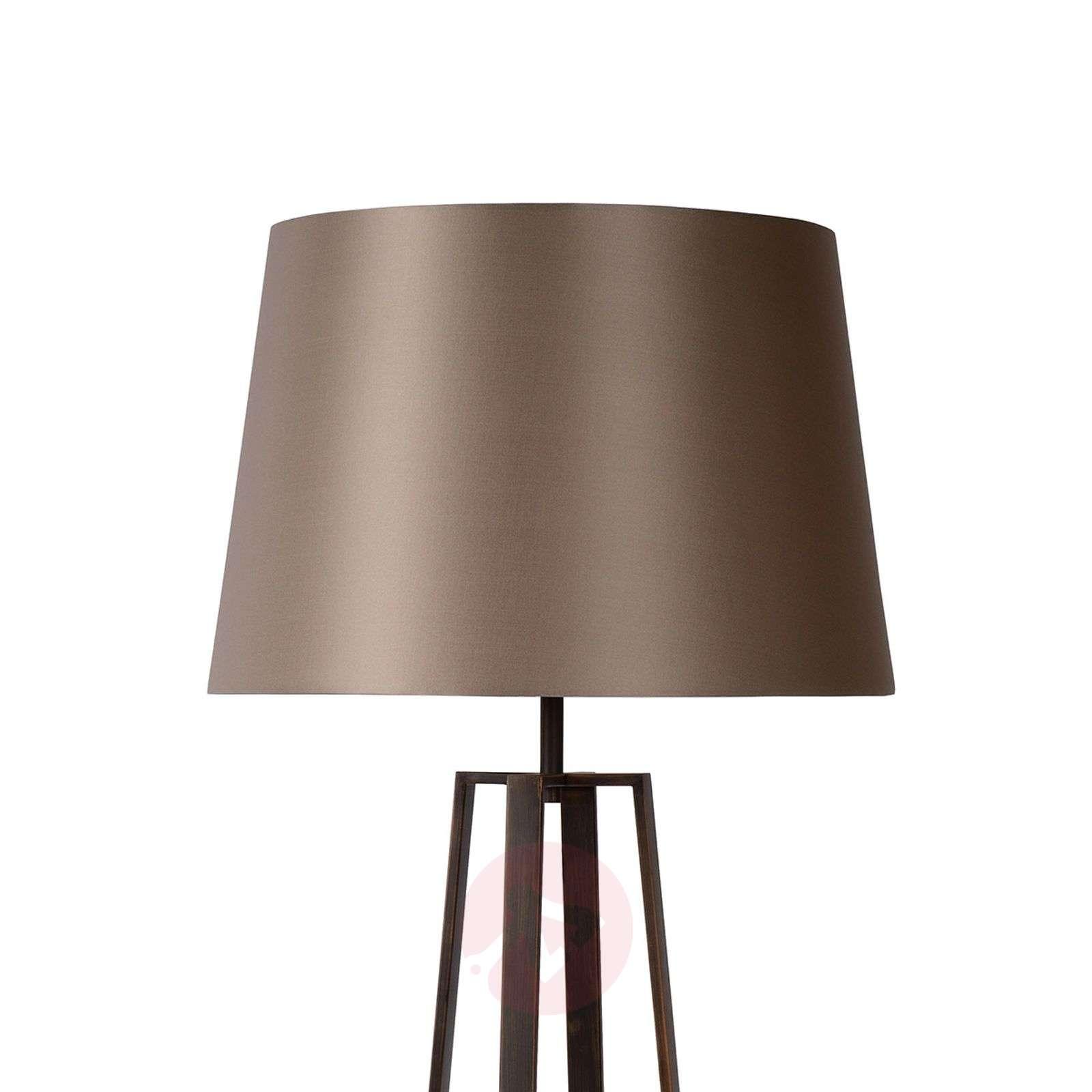 Rusty brown Coffee Lamp floor lamp, fabric shade-6054947-01
