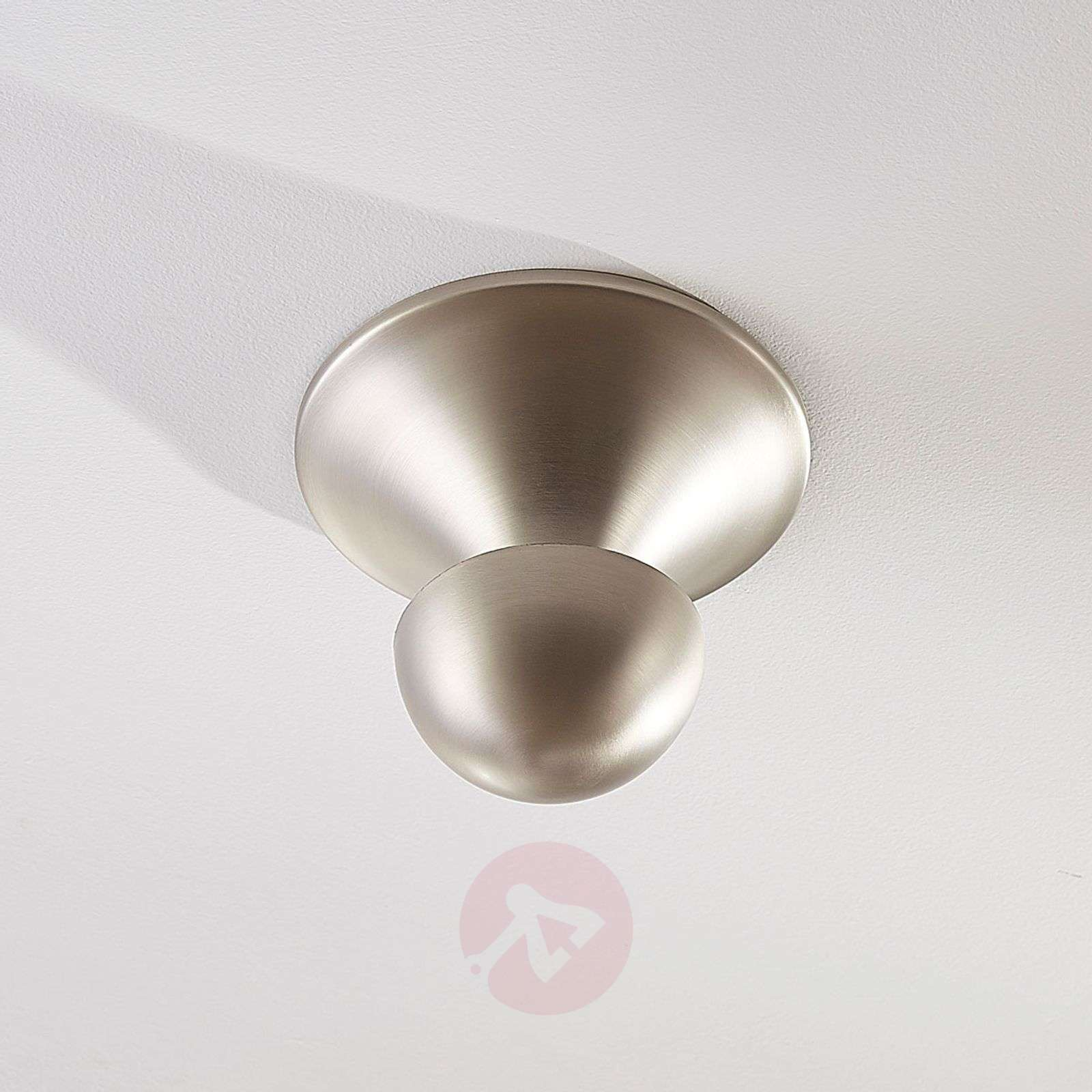 Ruth indirect LED ceiling light, nickel-9621431-01