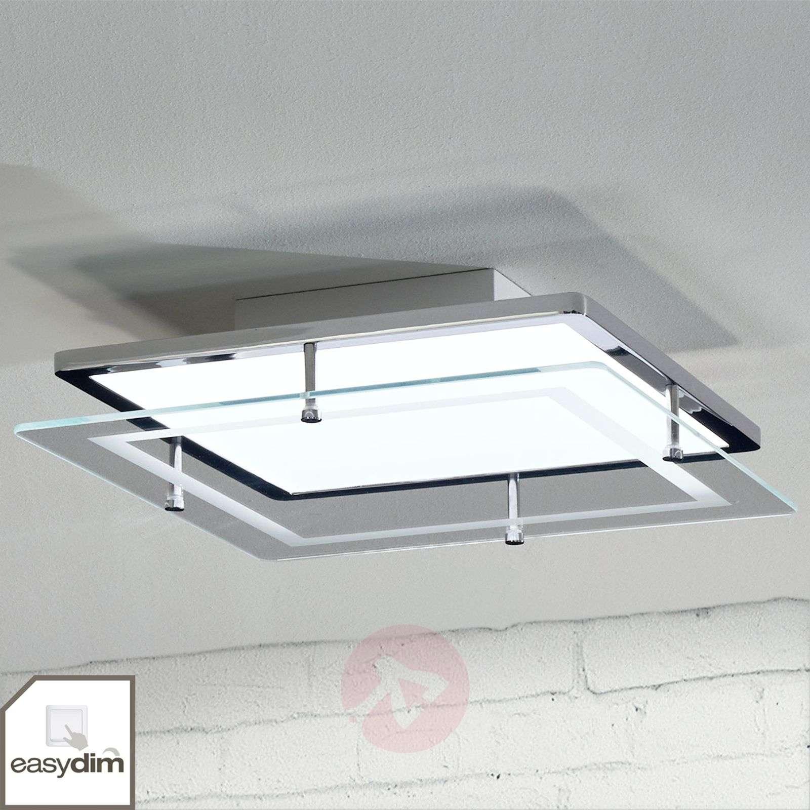 Sandra Easydim LED ceiling lamp with glass panel-1558151-09