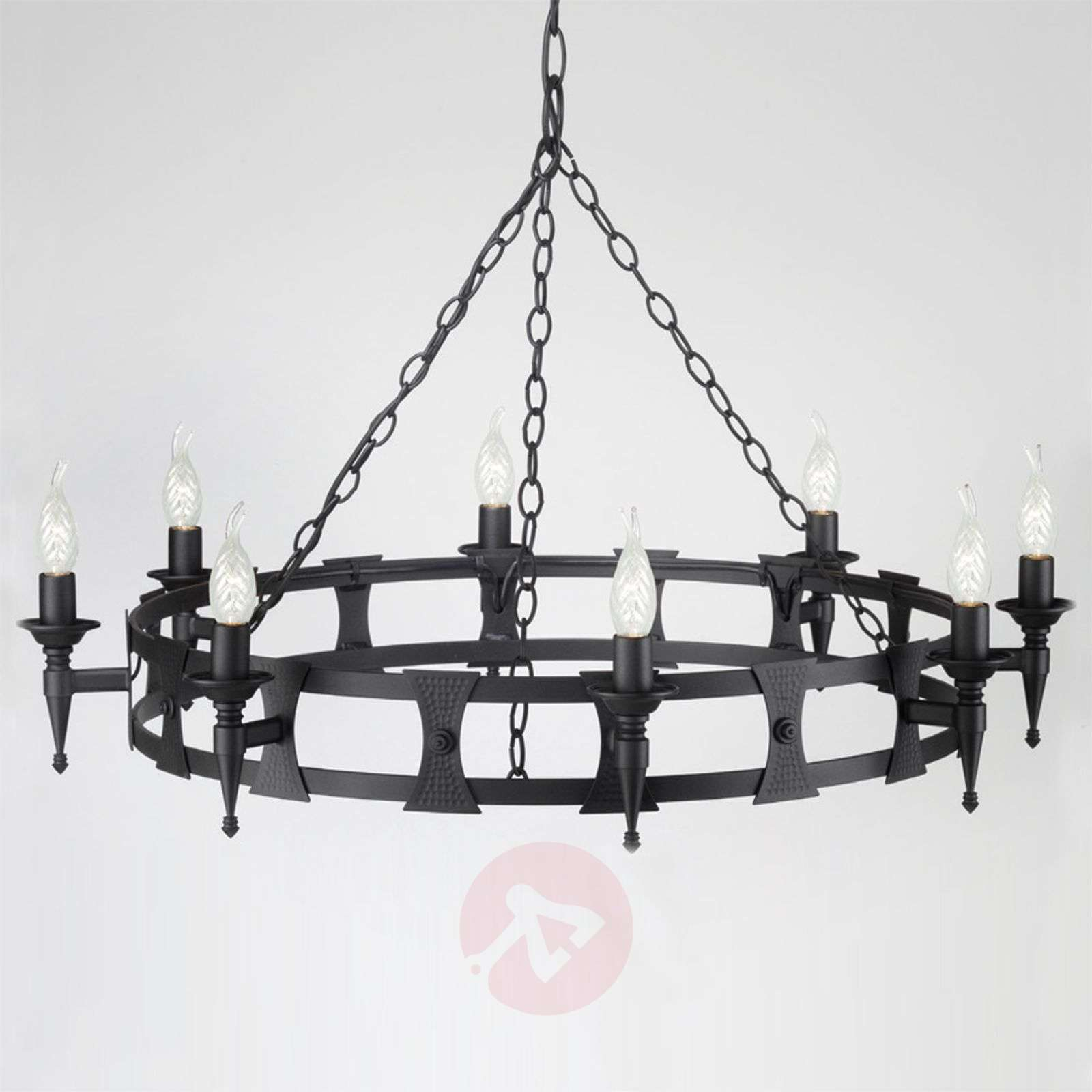 Saxon Hanging Light Three Bulbs Medieval Style-3048049X-01