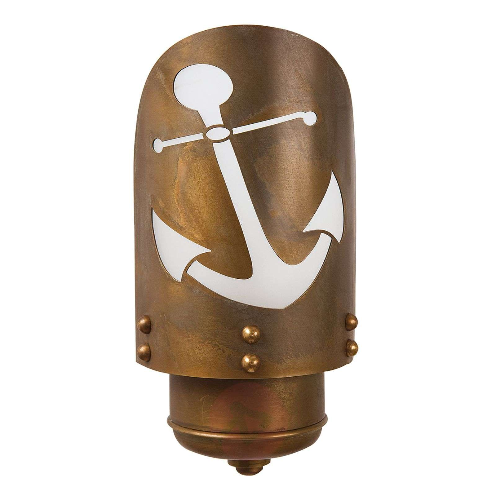 Seawater-res. outdoor wall light Cara with anchor-6515206-01