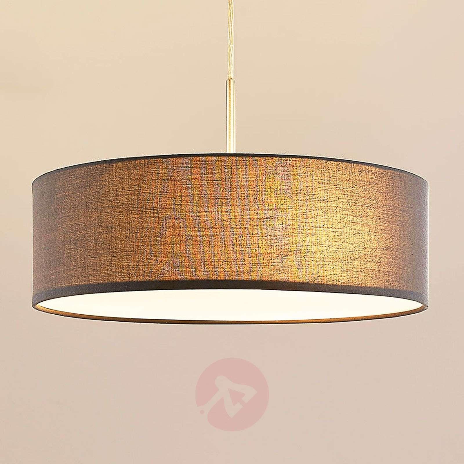Sebatin fabric pendant light in grey-9620326-03