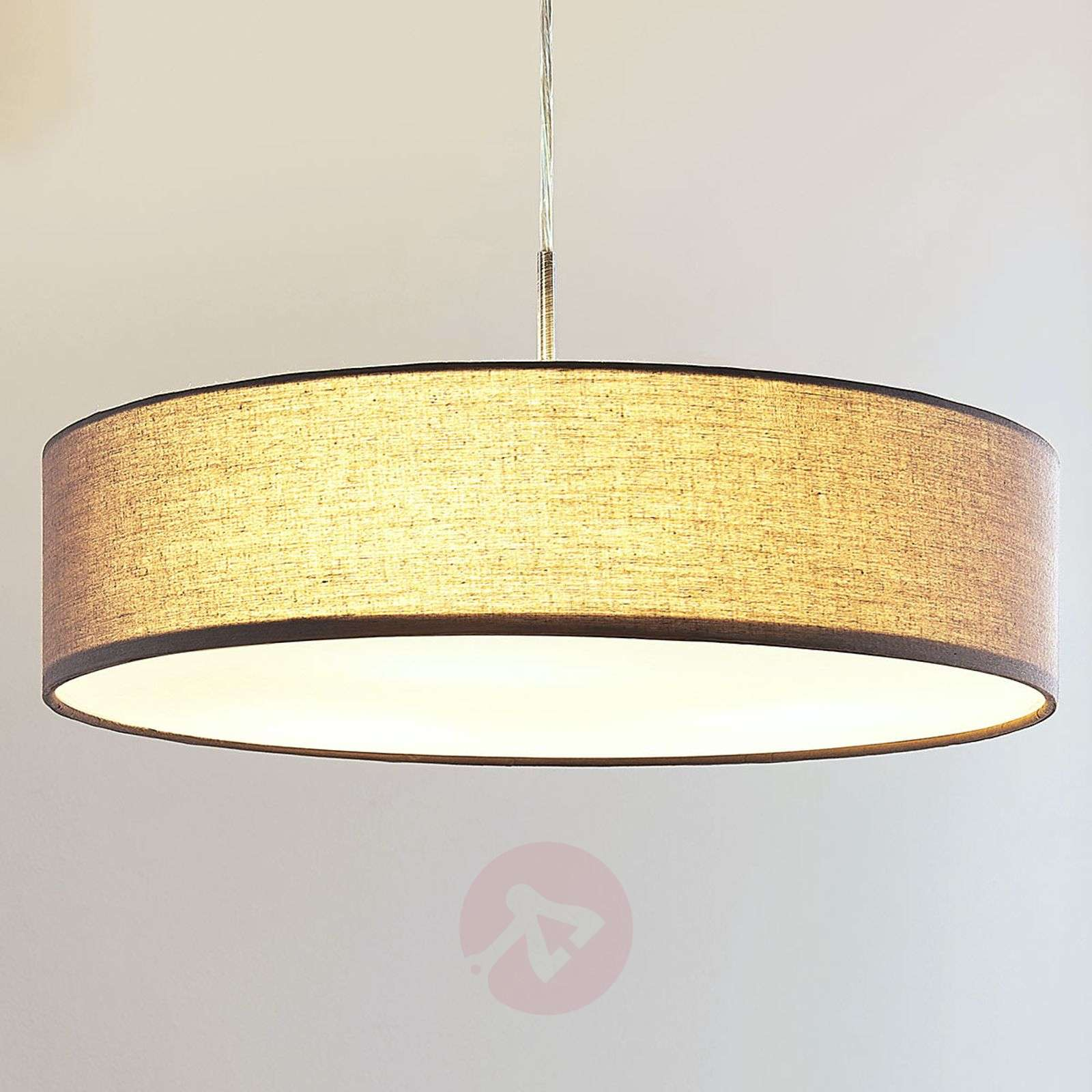 Sebatin grey fabric pendant lamp with E27 LEDs-9620322-02